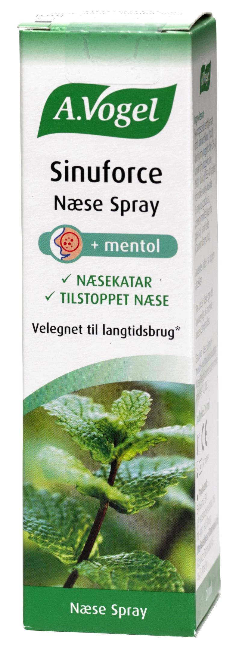 Image of A. Vogel Sinuforce Næsespray Mentol - 20 ml