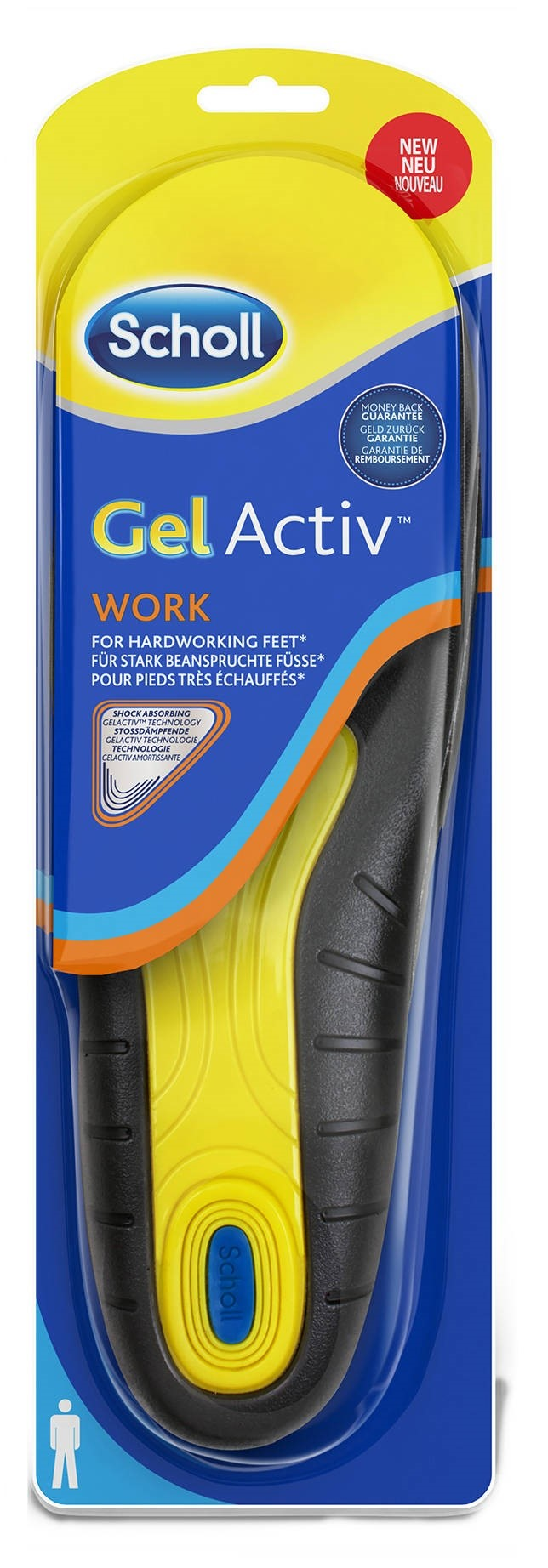 Image of   Scholl Gel Activ Work - Mand - 1 Par