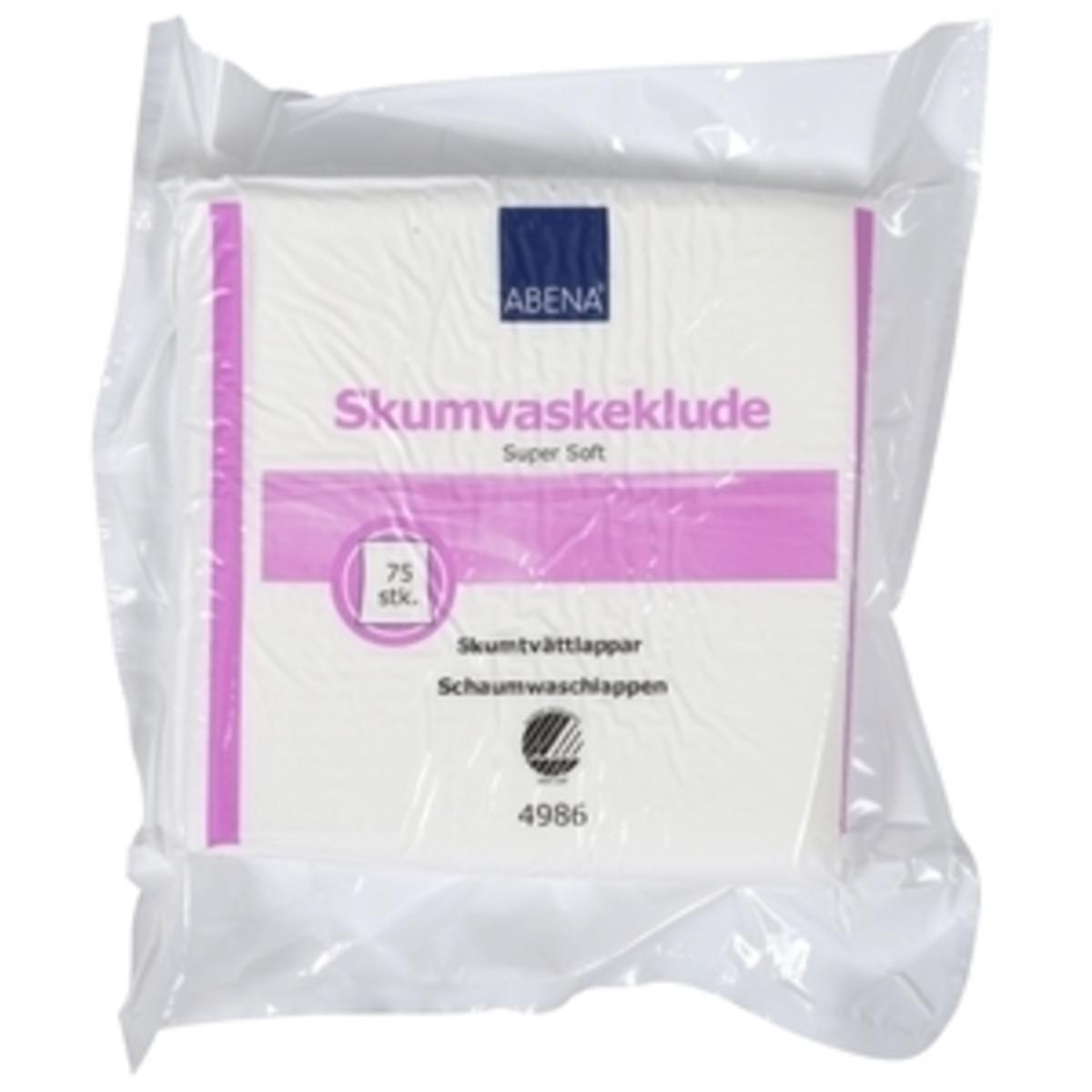 Image of   Abena Skumvaskeklude Svanemærket - 19x19 cm - 75 stk