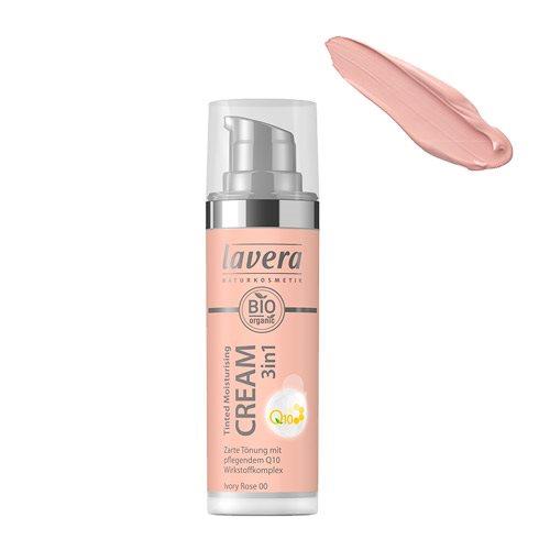 Image of   Lavera Cream - Ivory Rose 00 Tinted Mouisturising 3 in 1 - 30 ml