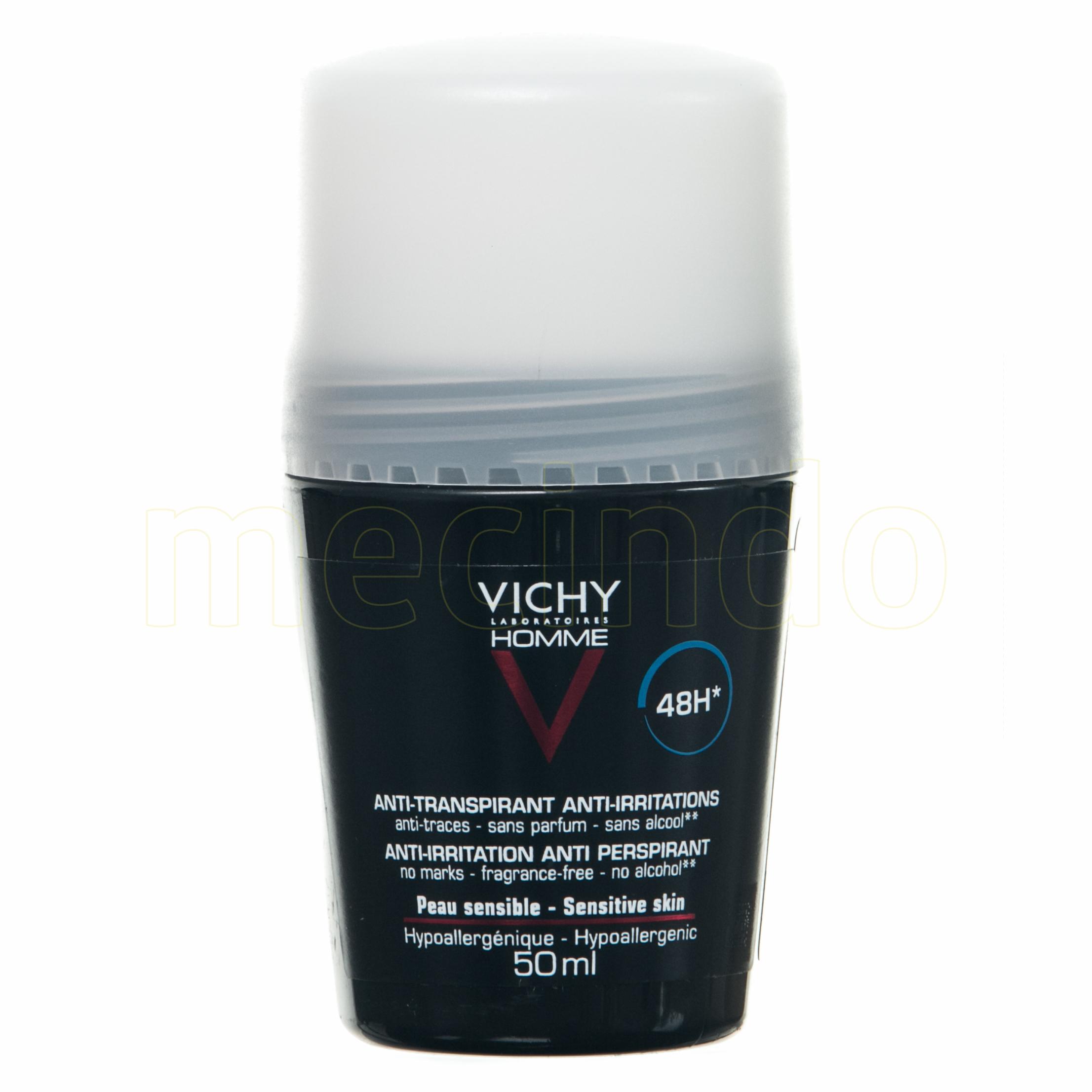 Image of   Vichy Homme Deo Roll-on u/Parfume - 50 ml