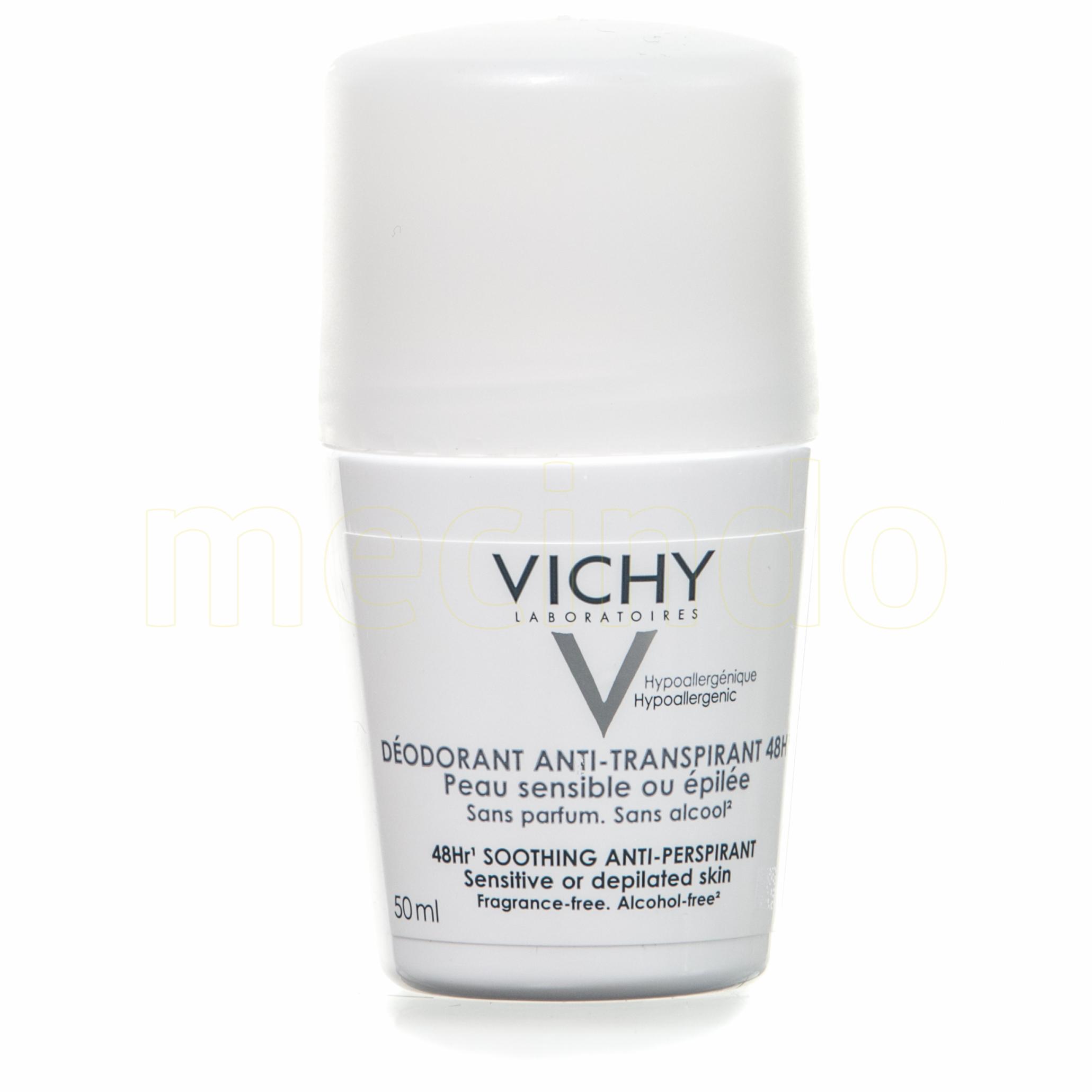 Image of   Vichy Antiperspirant 48hr Deo Roll-on u./Parfume - 50 ml