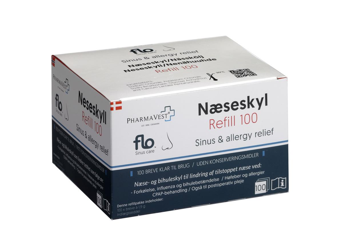 Flo Næseskyl Refill - 100 Brev