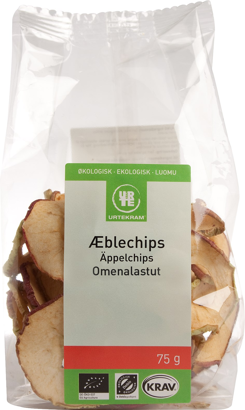 Urtekram Æblechips fra Mecindo