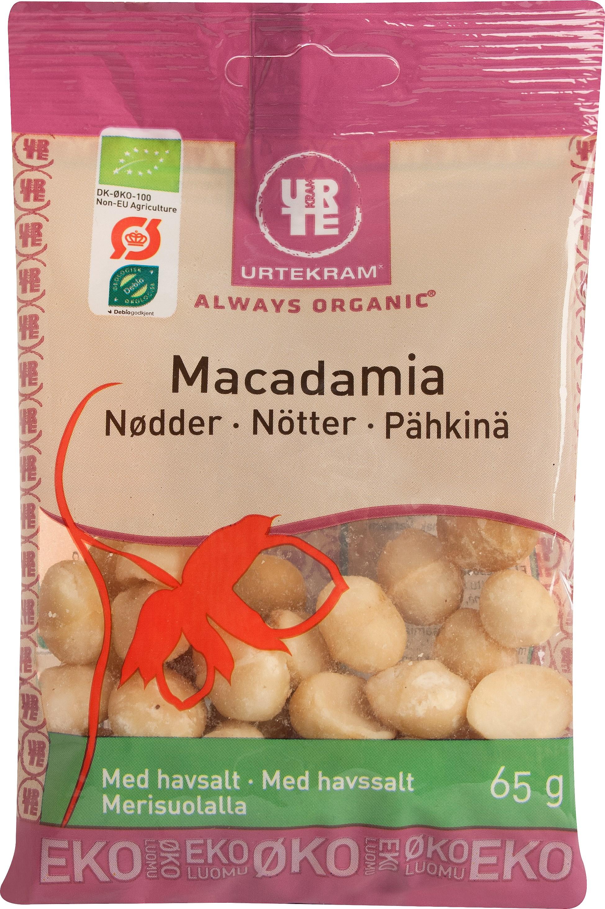 Urtekram macadamianødder fra Mecindo