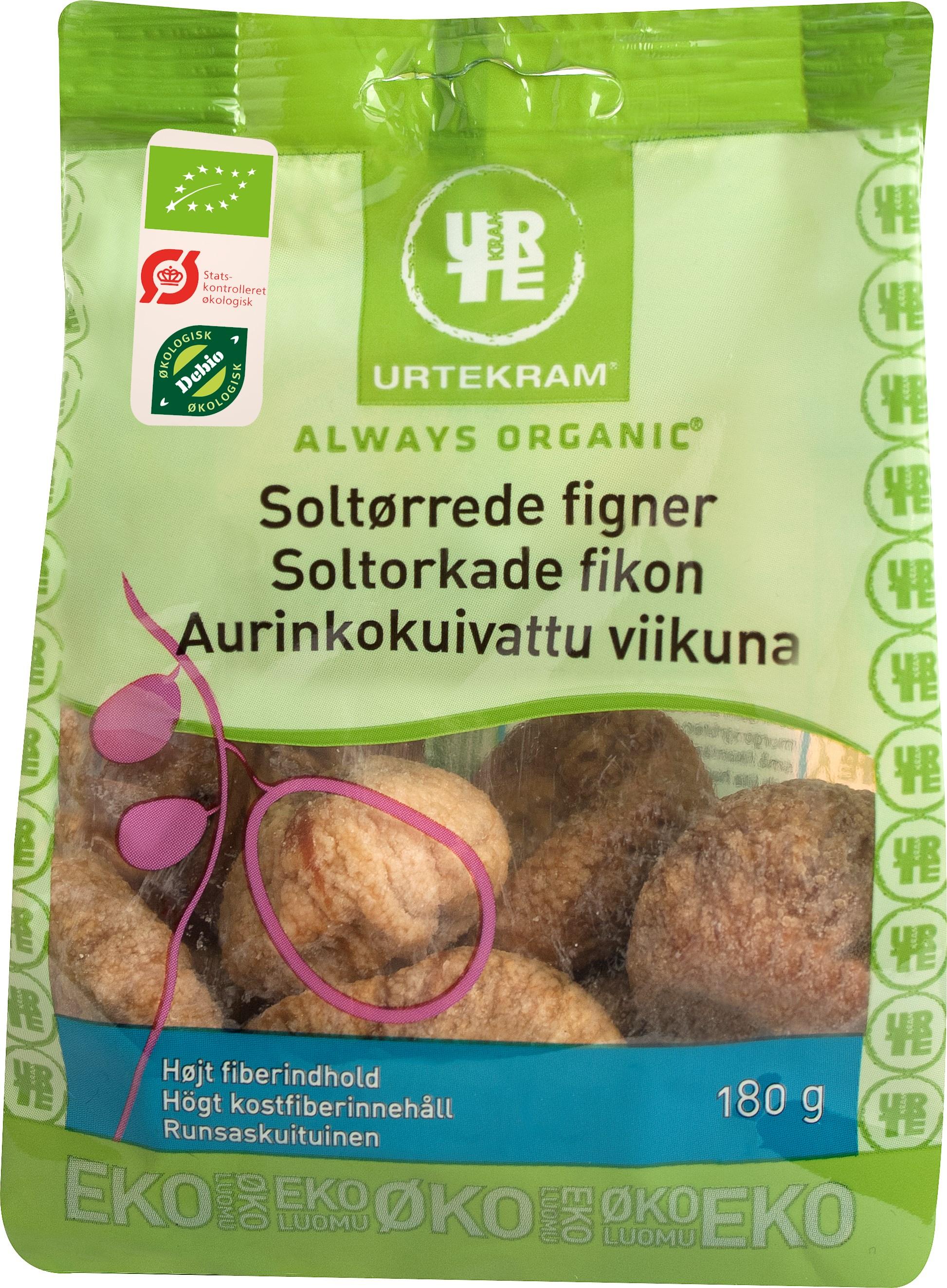Urtekram Soltørrede Figner Øko - 180 G