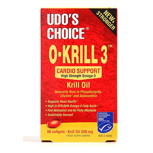 Udo s Choice O-Krill 3 Olie - 500 mg - 60 Kaps