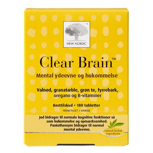 Billede af New Nordic Clear Brain - 180 Tabl