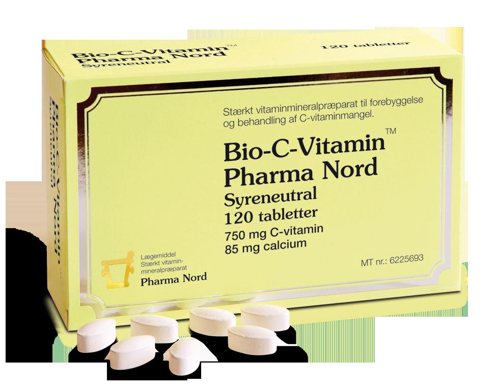 Image of   Bio-C Vitaminer fra Pharma Nord - 750 mg - 120 Tabl