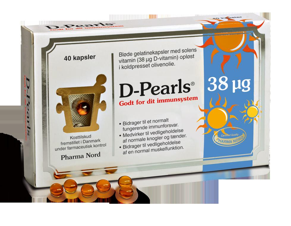 Image of   Bio-D-Pearls (D3 Vitamin) fra Pharma Nord - 38 mcg - 40 Kaps