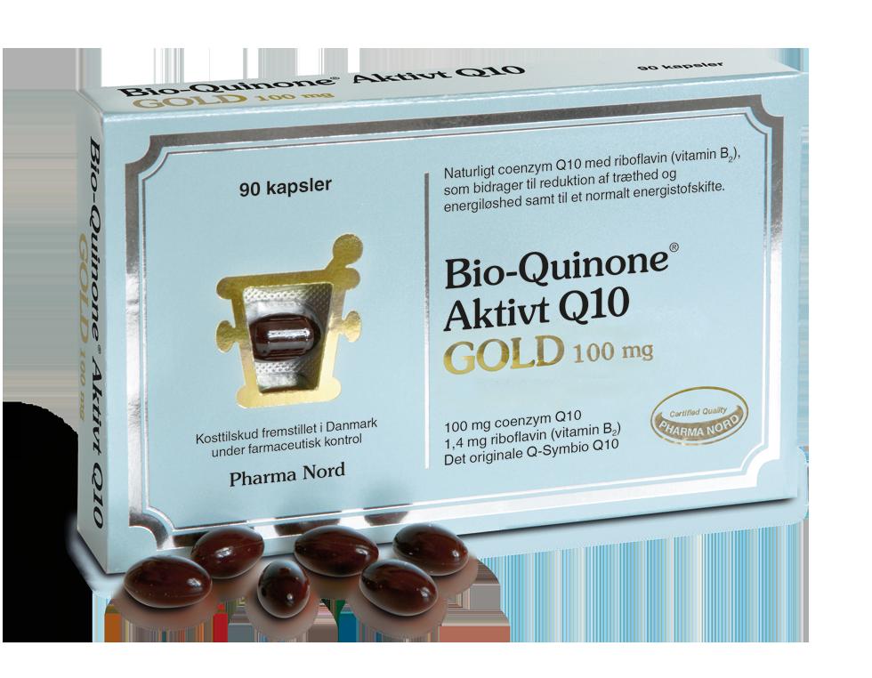 Image of   Bio-Quinone Q10 Gold fra Pharma Nord - 100 mg - 90 Kaps