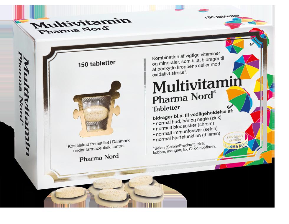 Image of   Bio-Multivitaminer fra Pharma Nord - 150 Tabl