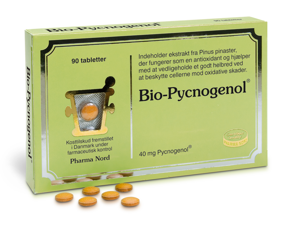 Image of   Bio-Pycnogenol fra Pharma Nord - 40 mg - 90 Tabl