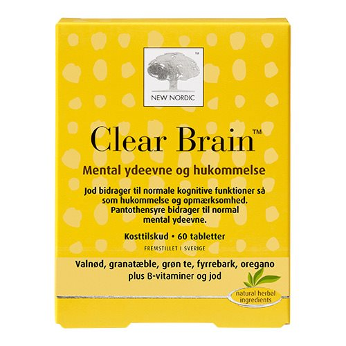 Billede af New Nordic Clear Brain - 60 Tabl