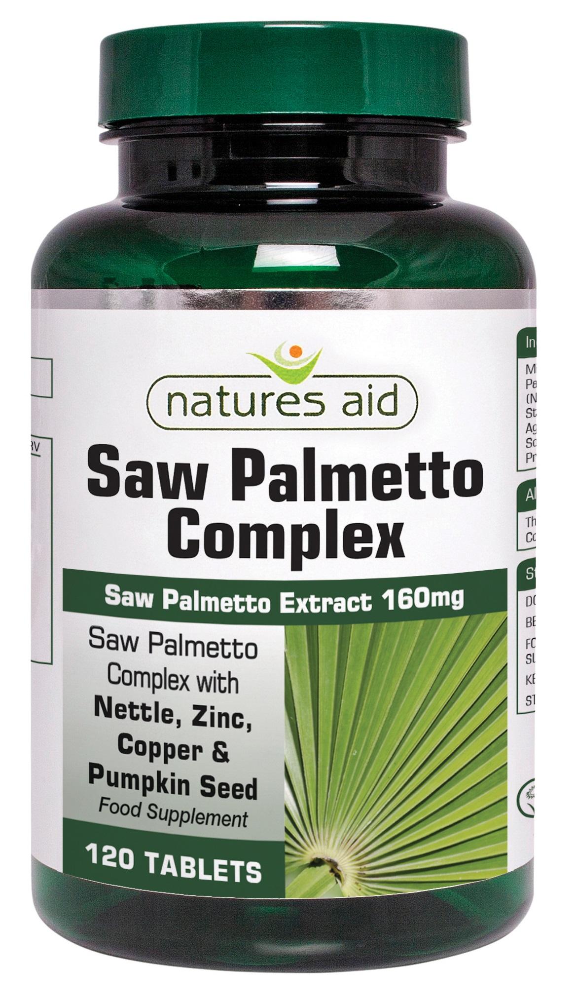 Natures Aid Saw Palmetto Complex - 120 Tabl