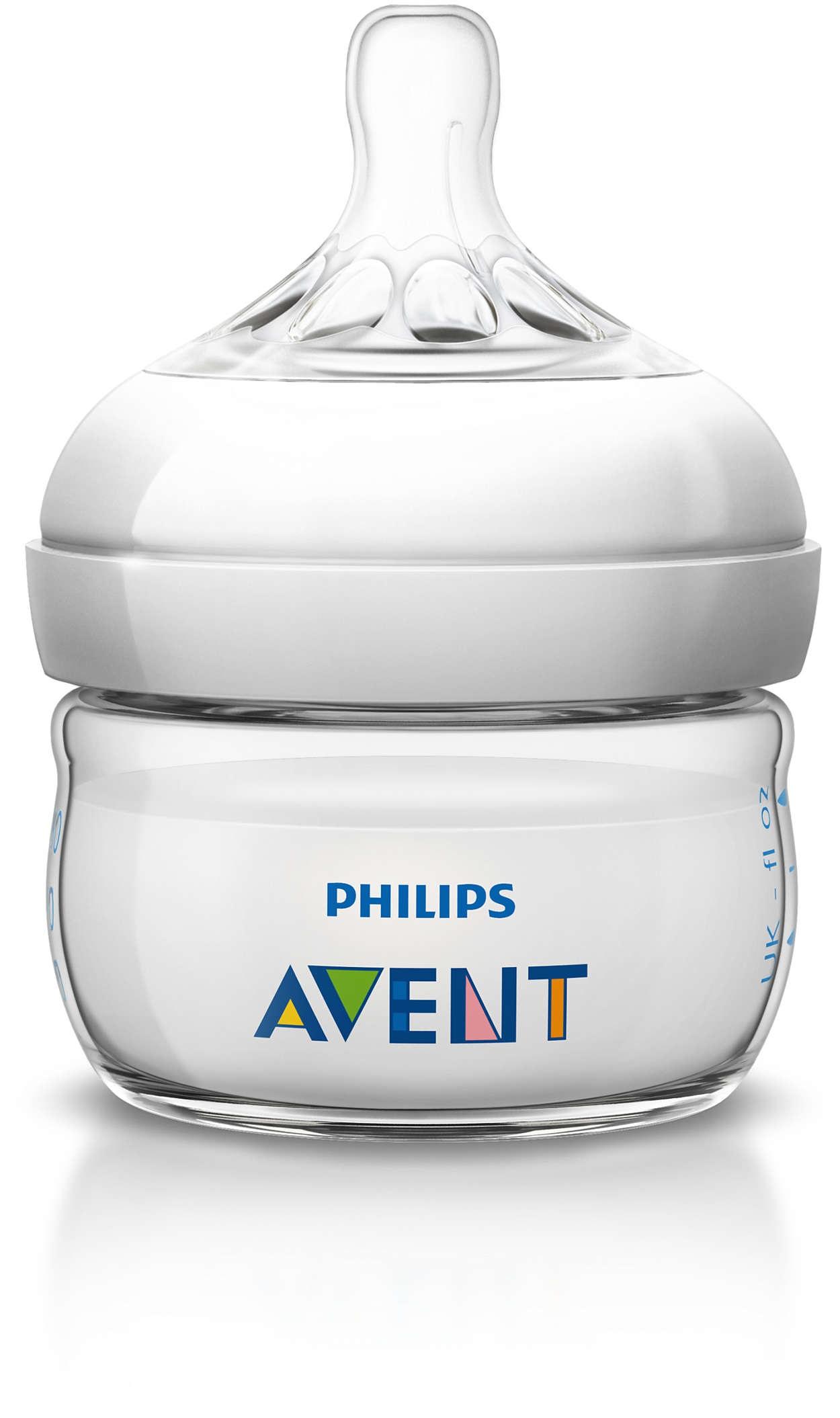 Billede af Philips Avent Natural Sutteflaske - 60 ml - 1 Stk.