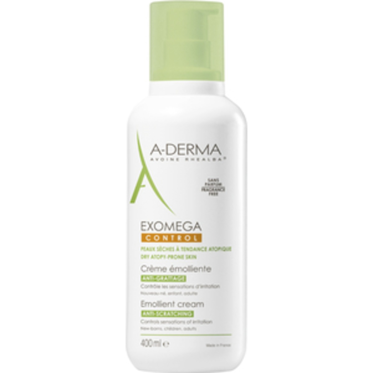 Image of   A-Derma Exomega Control Cream - 400 ml