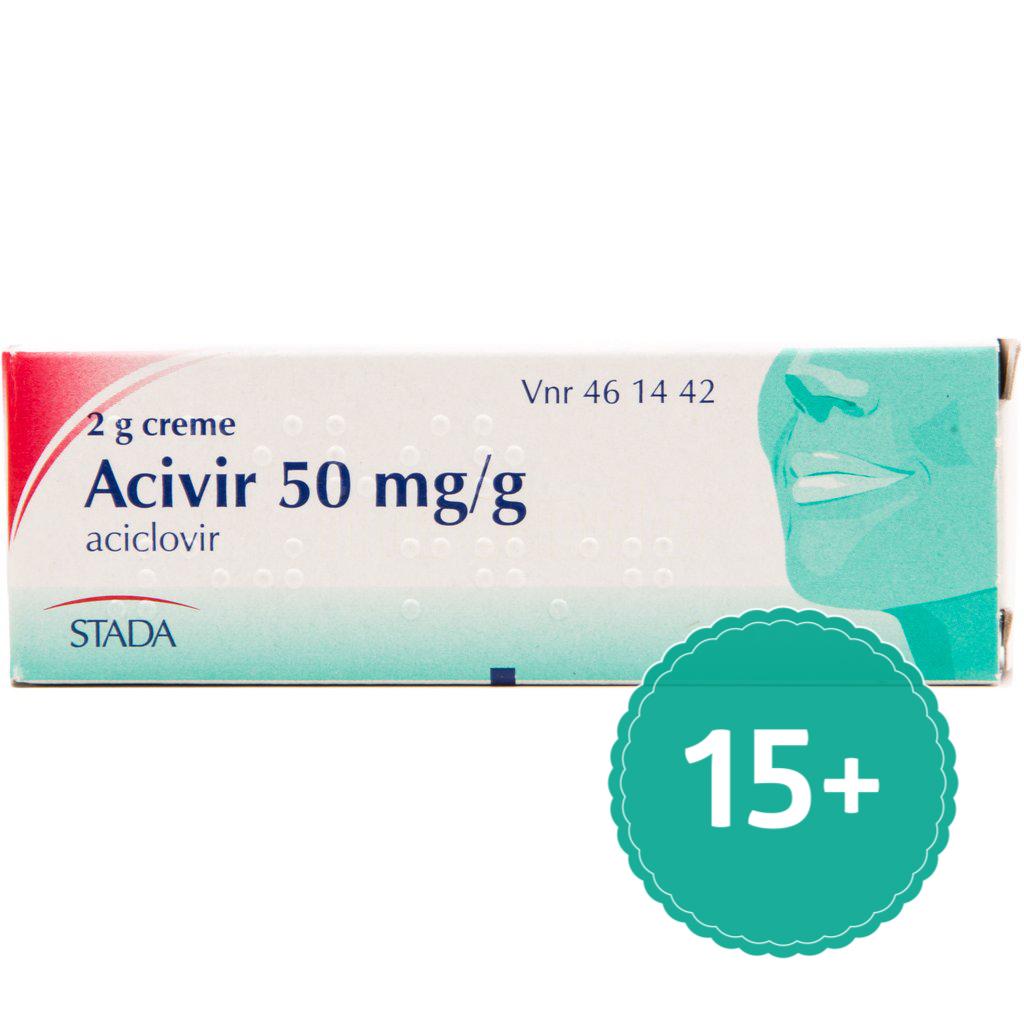 Image of   Acivir Creme til Forkølelsessår - 5 % - 2 Gram