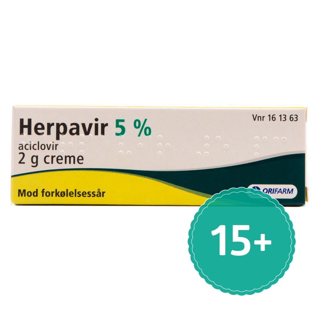 Billede af Herpavir Creme - 5 % - 2 Gram