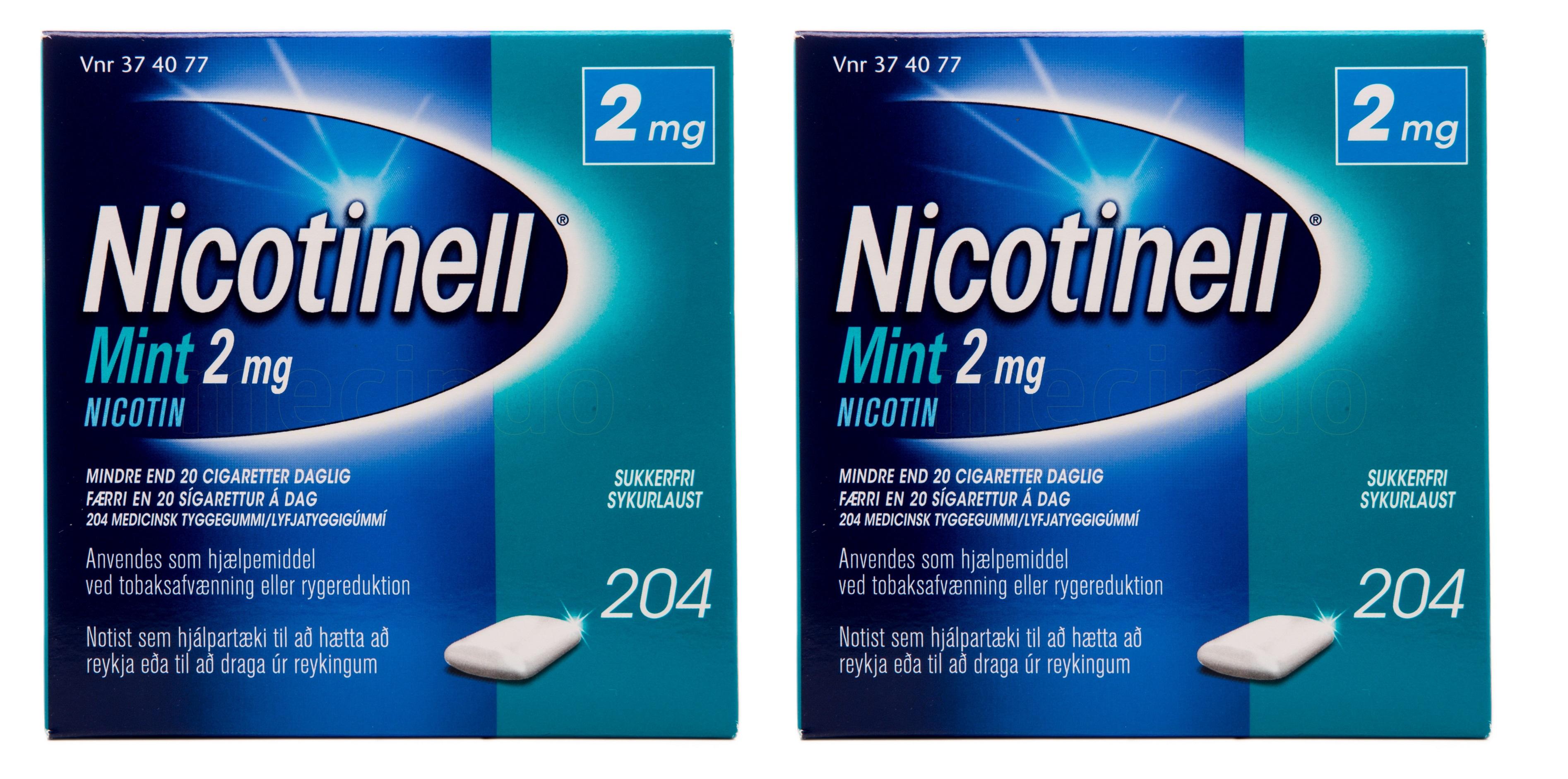 Billede af Nicotinell Tyggegummi Mint - 2 mg - 408 stk