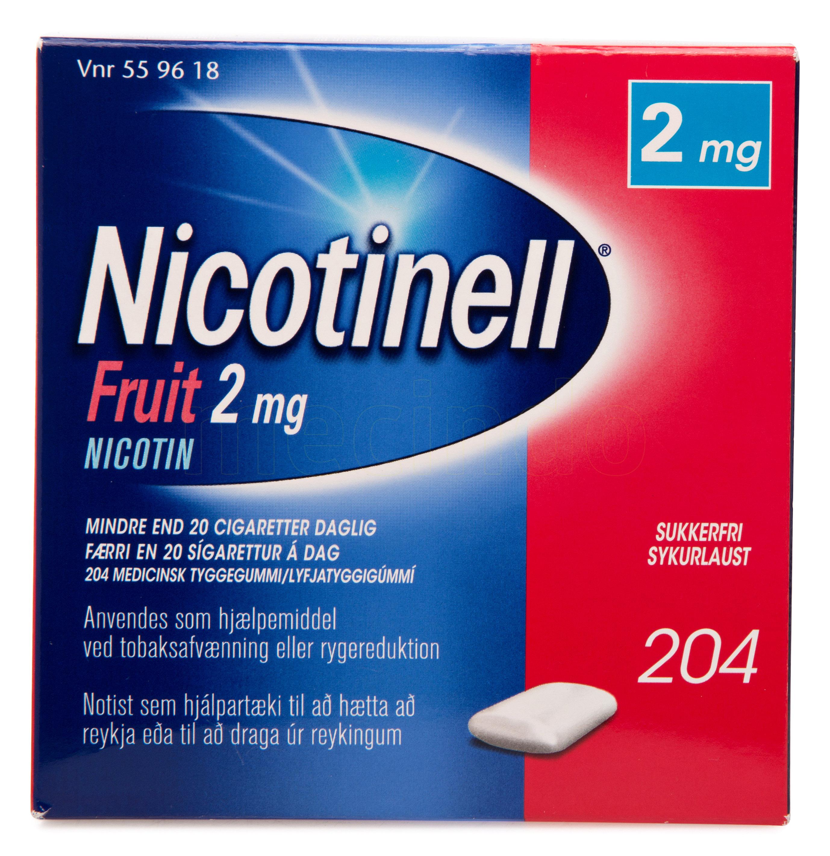 Billede af Nicotinell Fruit - 2 mg - 204 Stk.