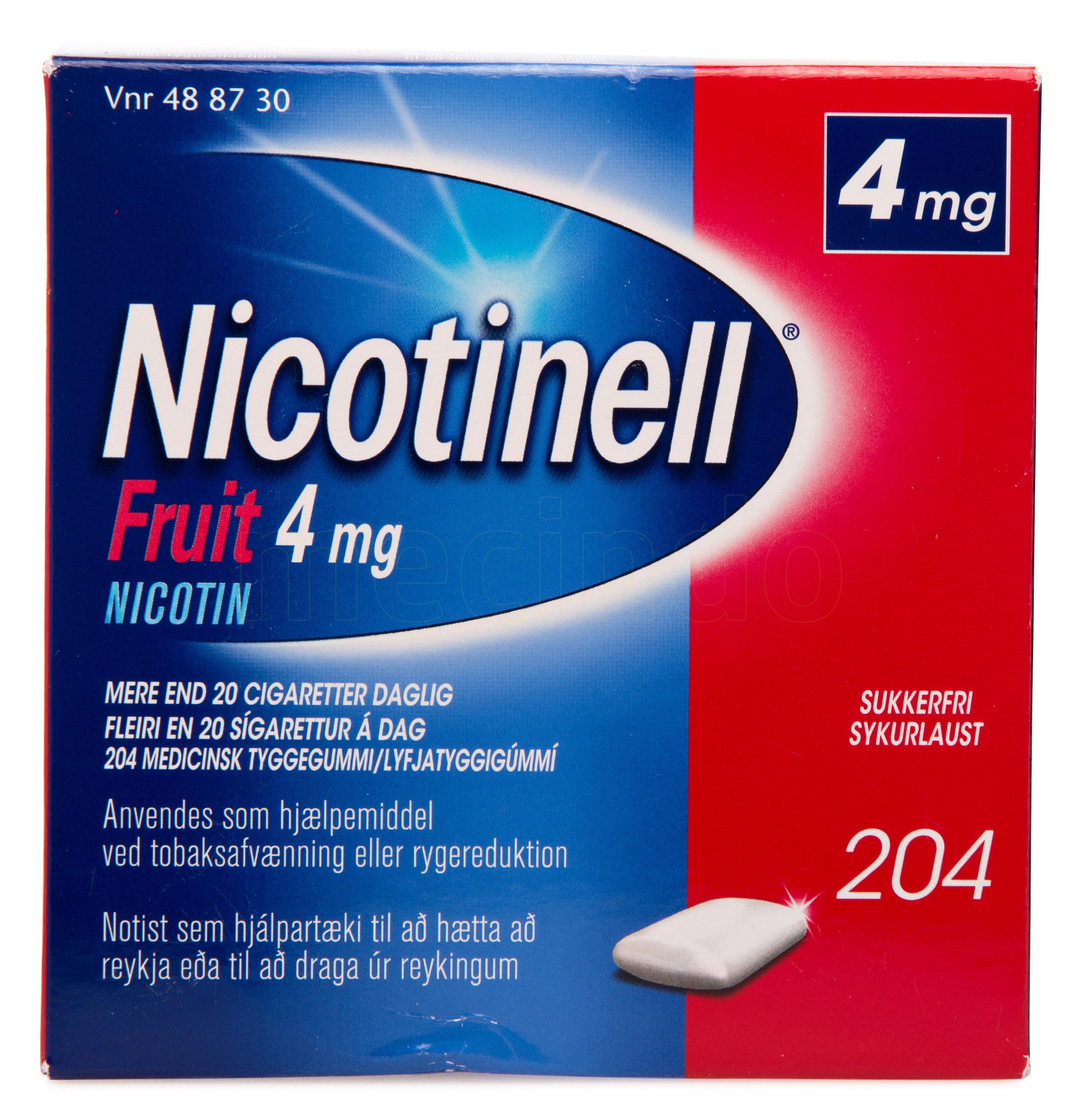 Billede af Nicotinell Fruit - 4 mg - 204 Stk.