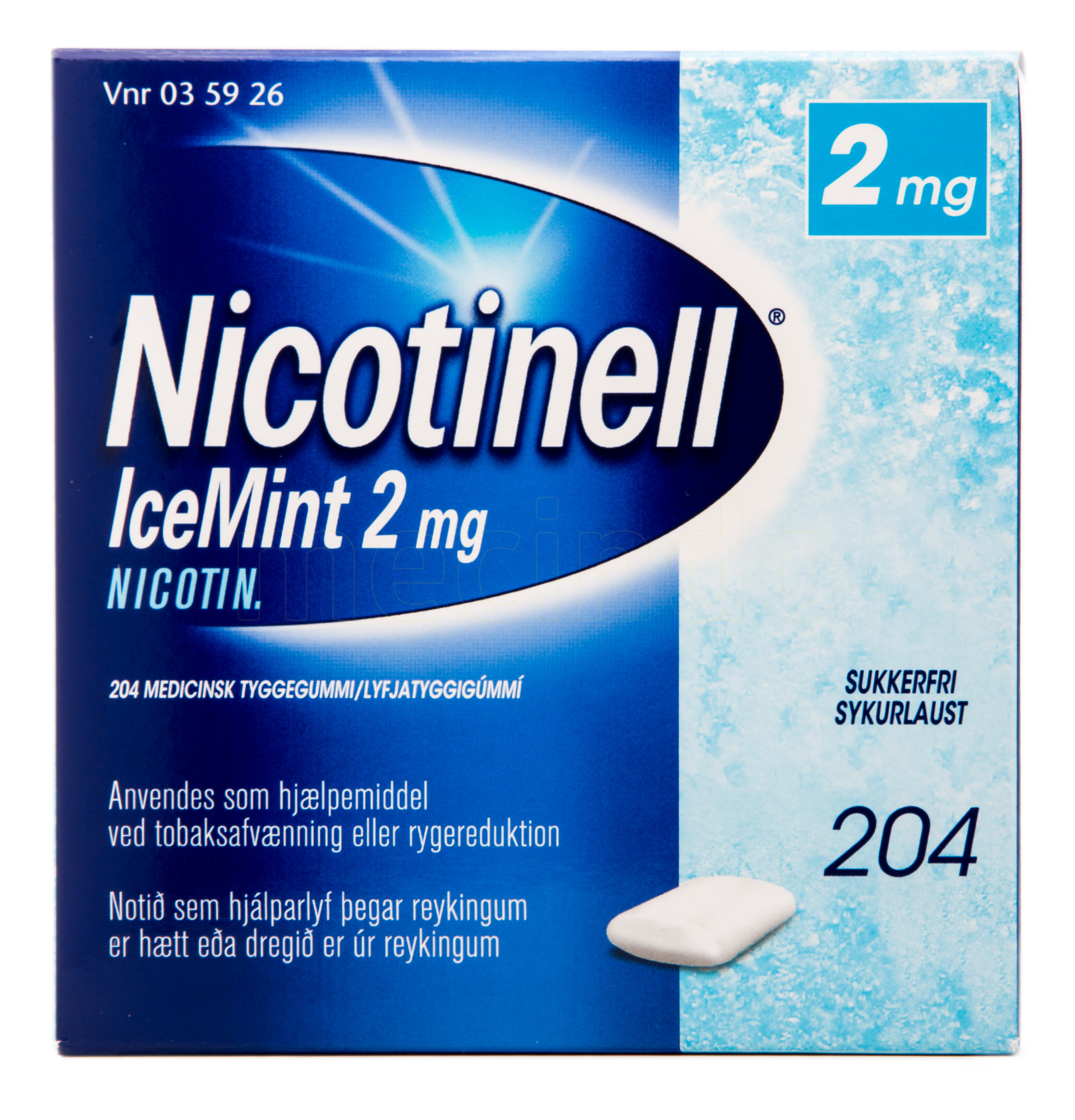 Billede af Nicotinell Tyggegummi IceMint - 2 mg - 204 Stk.