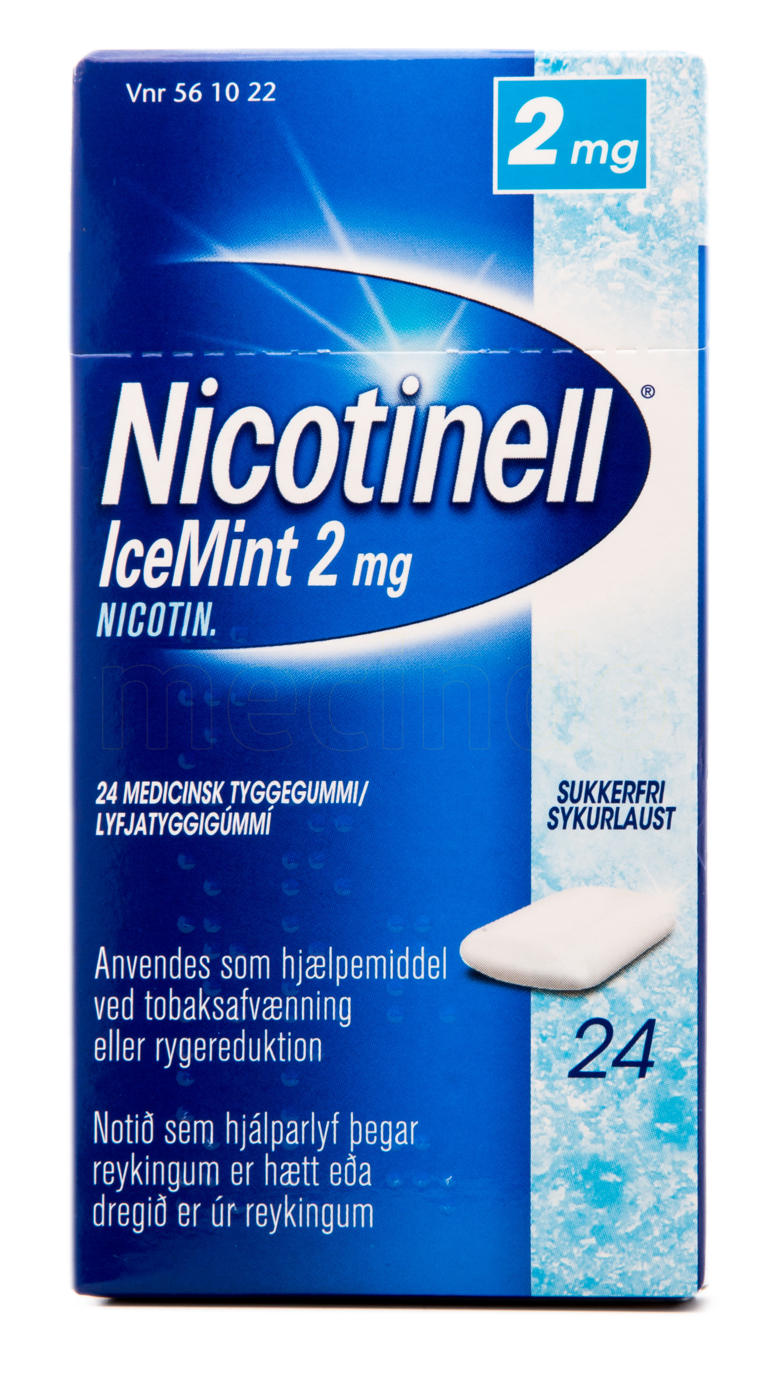 Billede af Nicotinell Tyggegummi IceMint - 2 mg - 24 Stk.