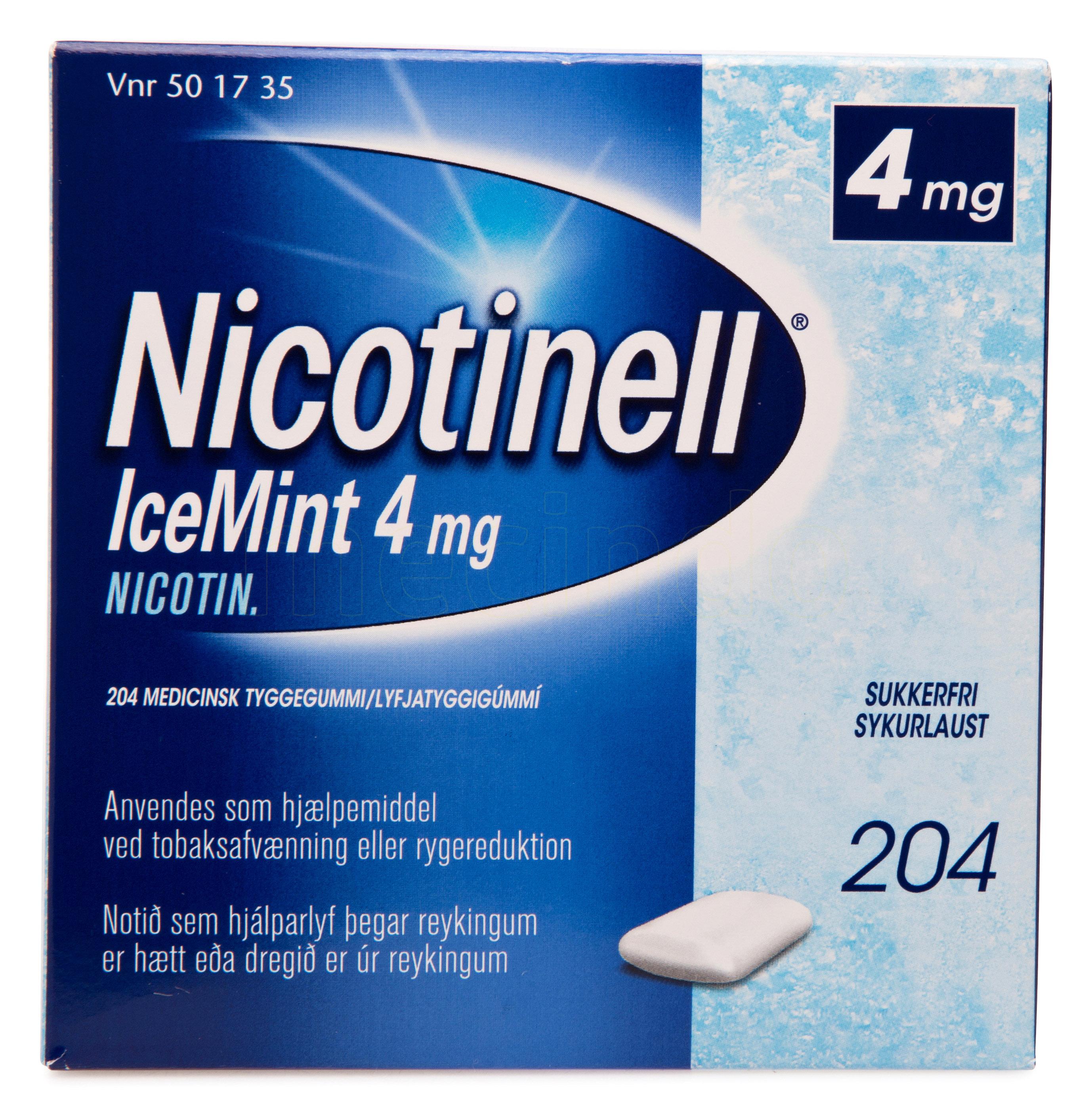 Billede af Nicotinell Tyggegummi IceMint - 4 mg - 204 Stk.