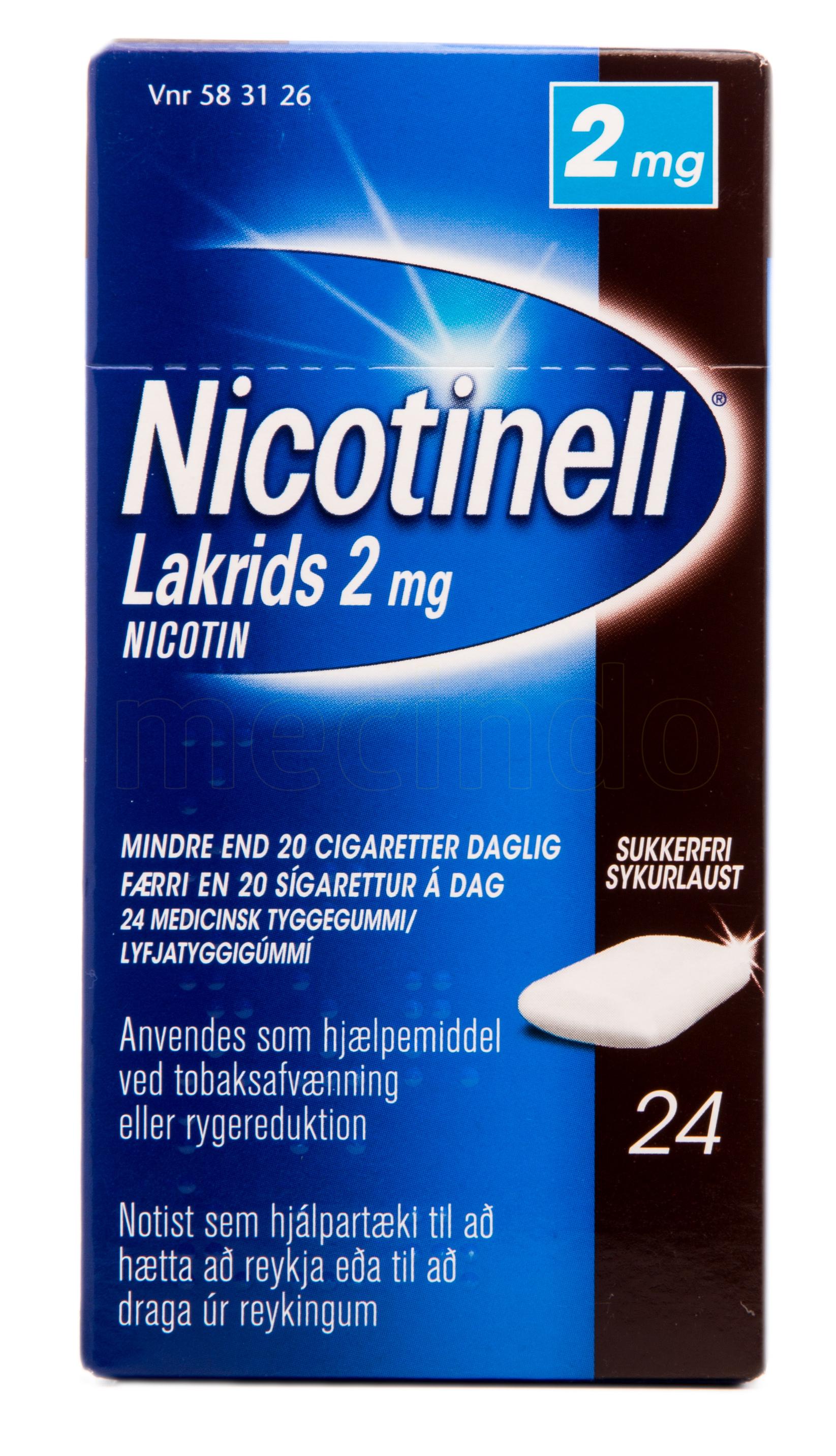 Billede af Nicotinell Lakrids - 2 mg - 24 Stk.