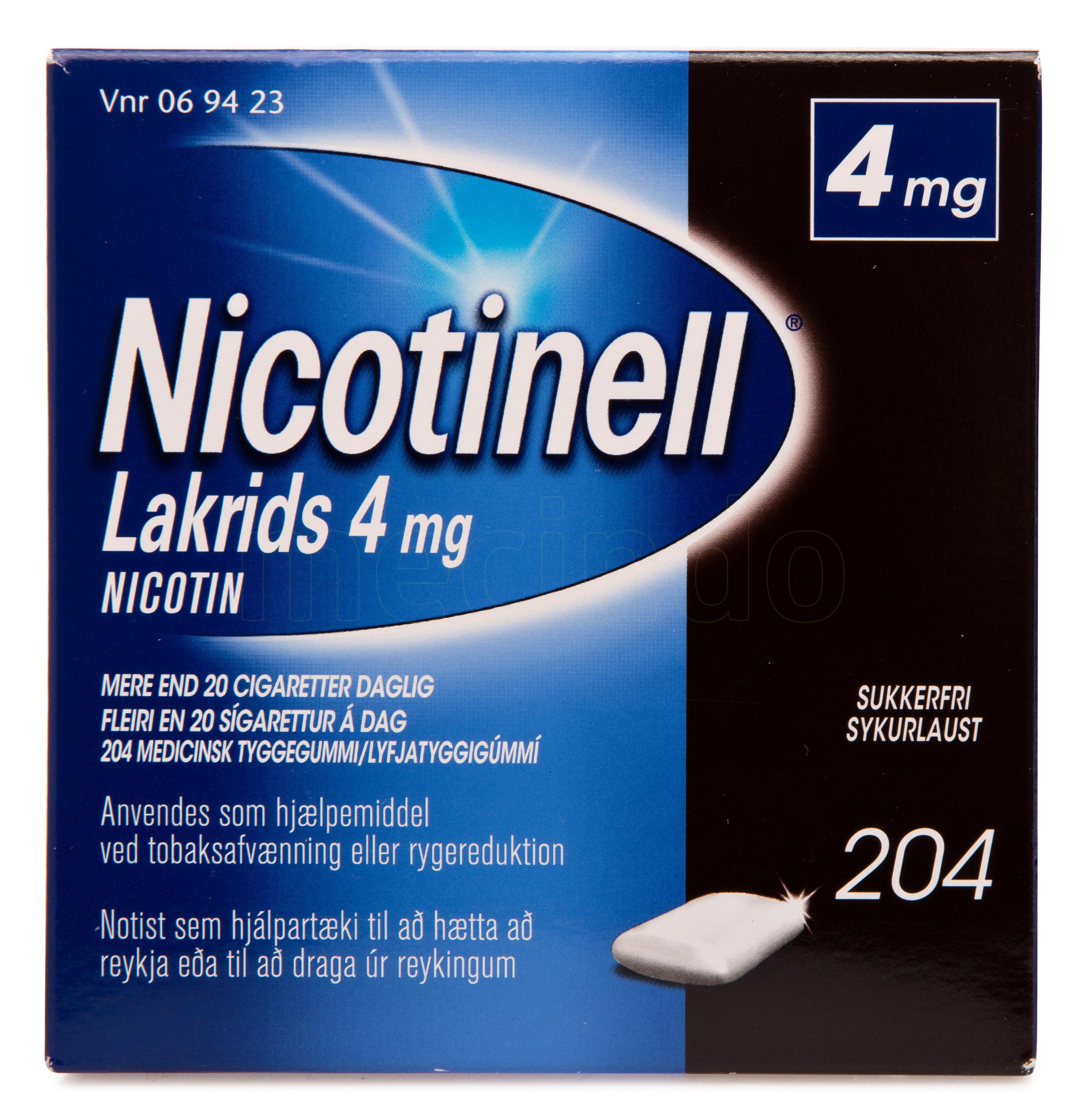 Billede af Nicotinell Lakrids - 4 mg - 204 Stk.