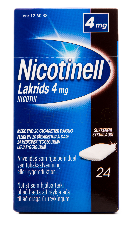Billede af Nicotinell Lakrids - 4 mg - 24 Stk.
