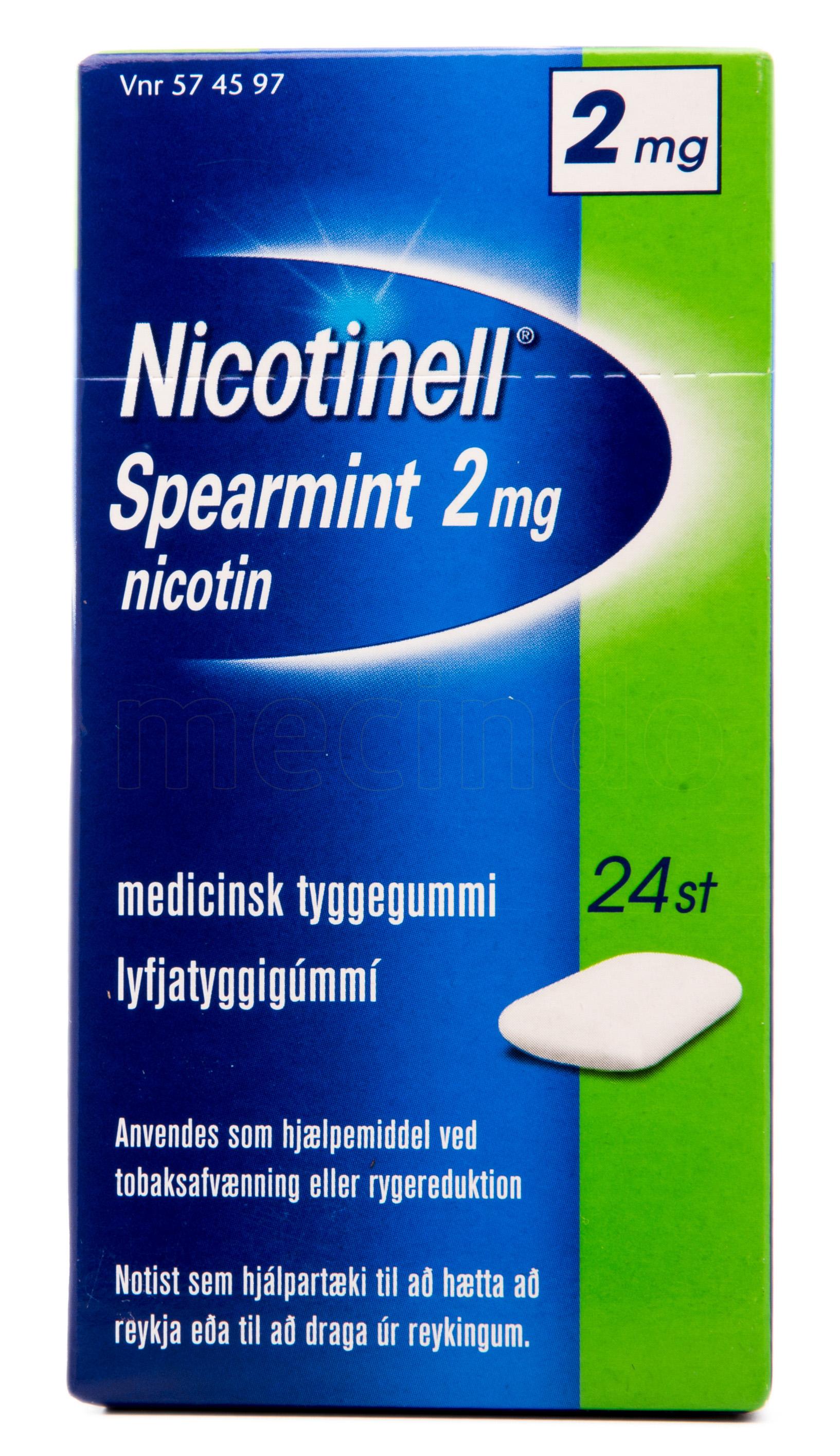 Billede af Nicotinell Spearmint - 2 mg - 24 Stk.