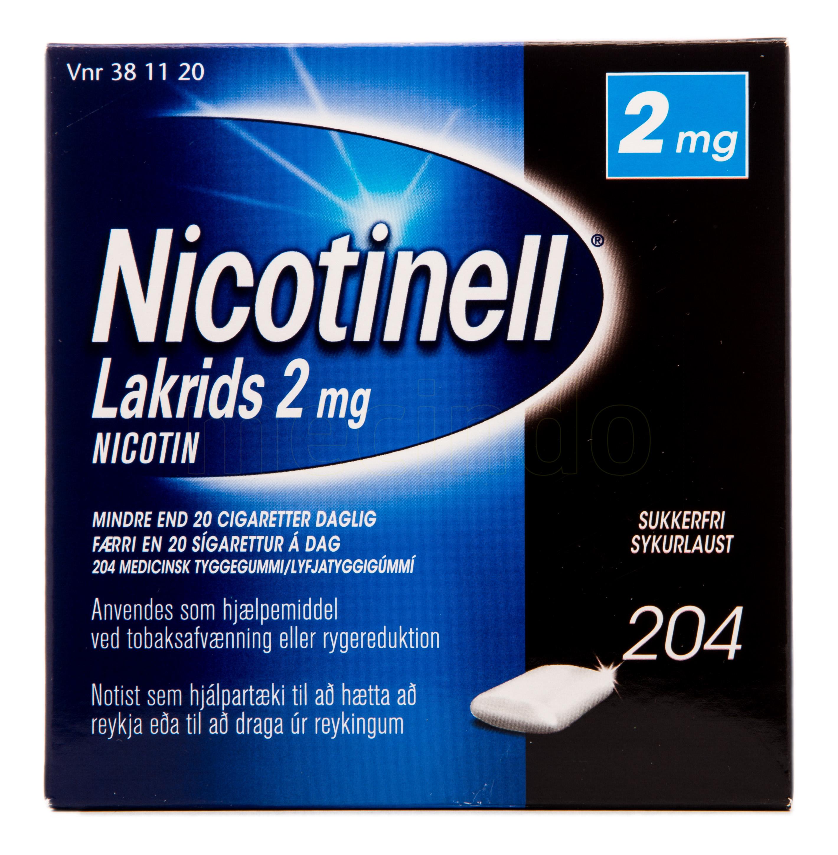 Billede af Nicotinell Lakrids - 2 mg - 204 Stk.