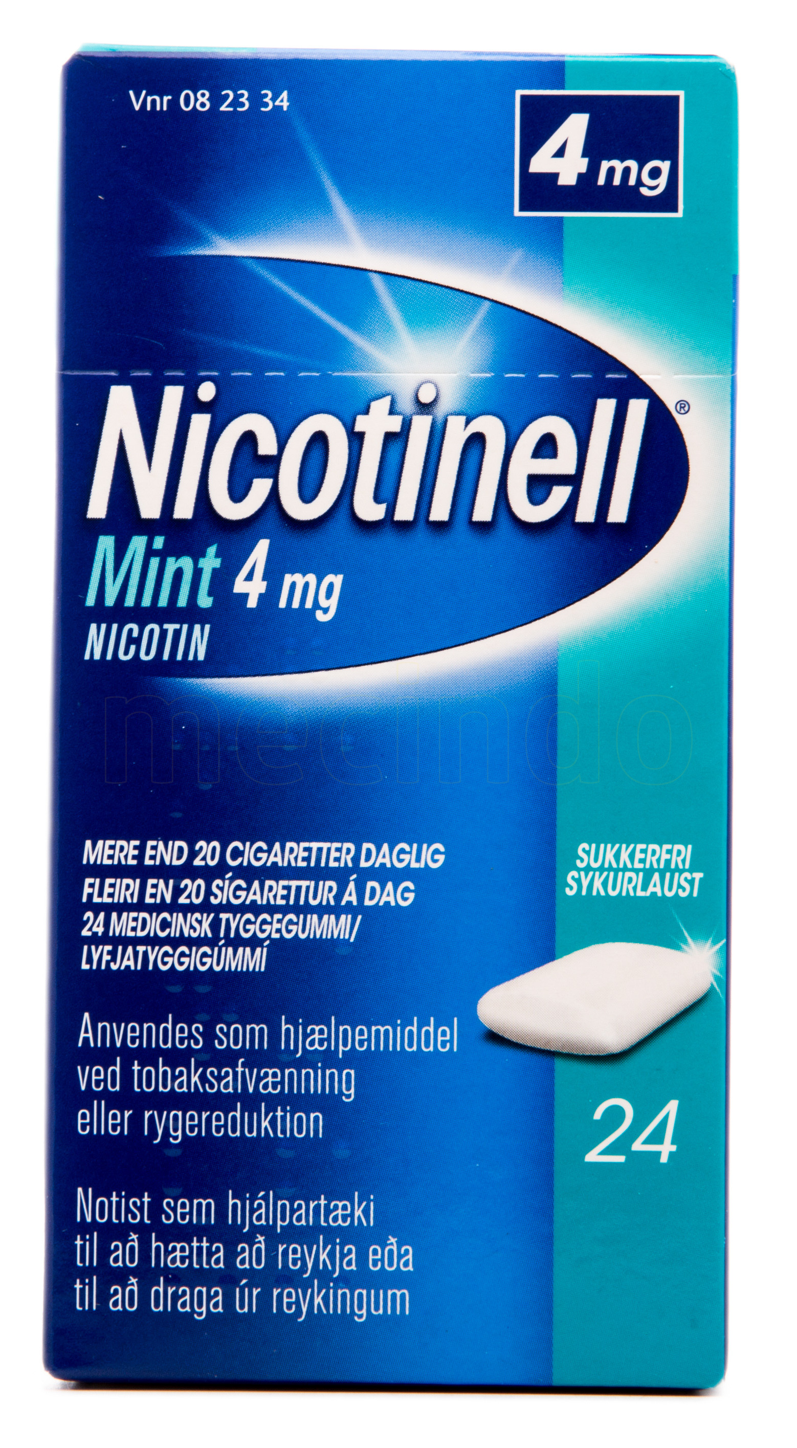 Billede af Nicotinell Tyggegummi Mint - 4 mg - 24 stk