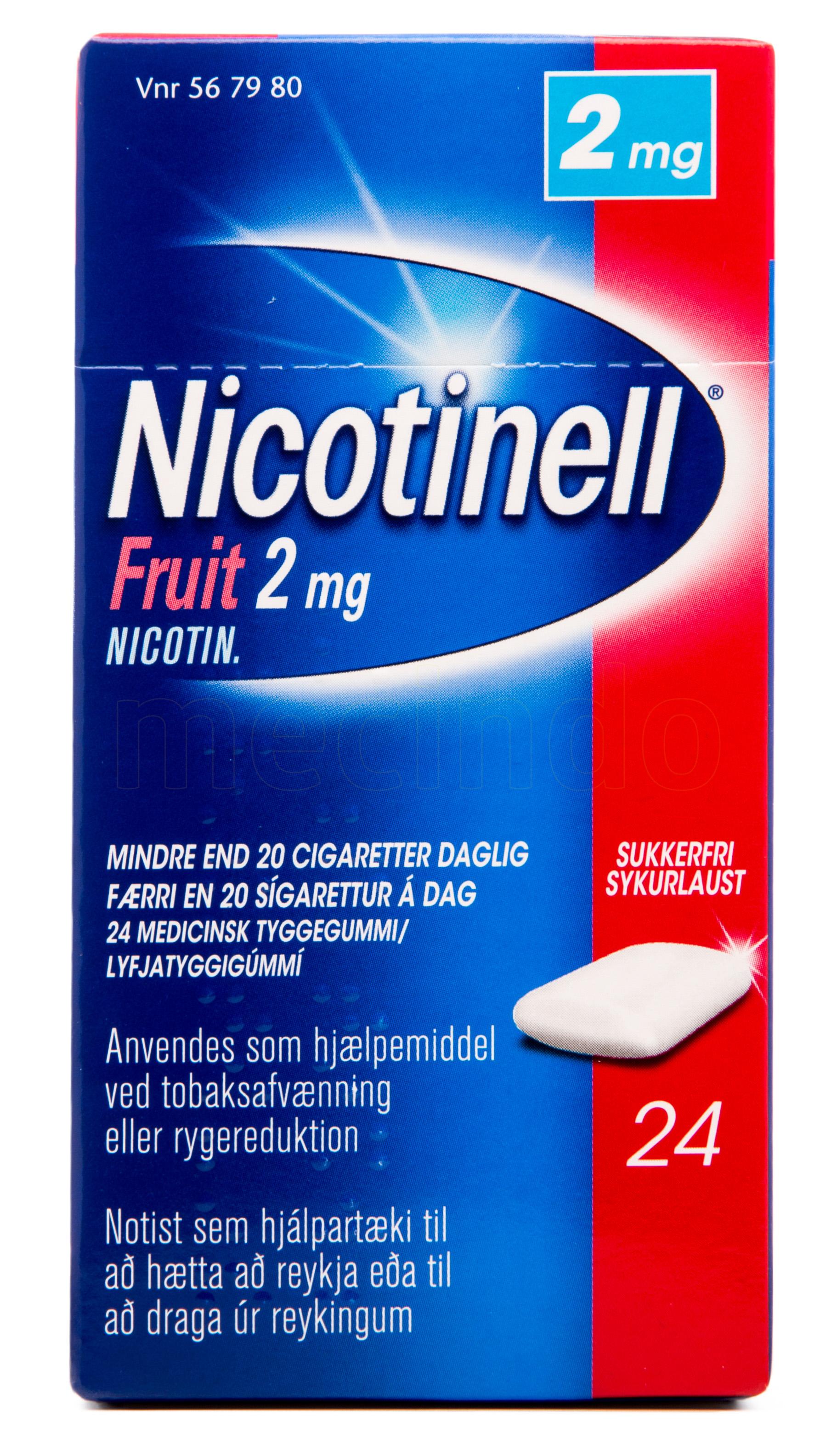 Billede af Nicotinell Fruit - 2 mg - 24 Stk.