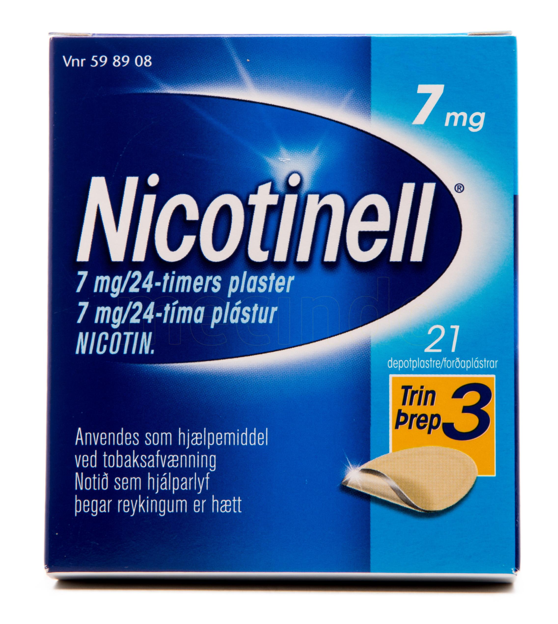 Billede af Nicotinell Depotplastre - 7 mg - 21 Plas