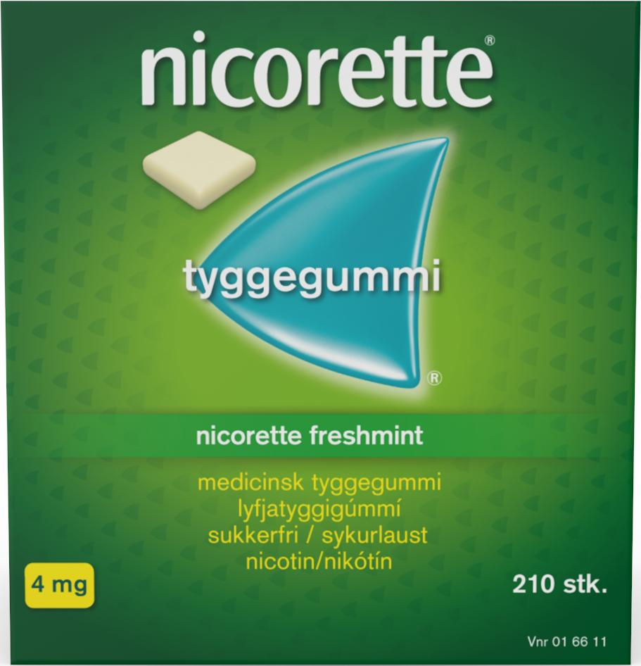 Nicorette Tyggegummi Freshmint - 4 mg - 210 stk