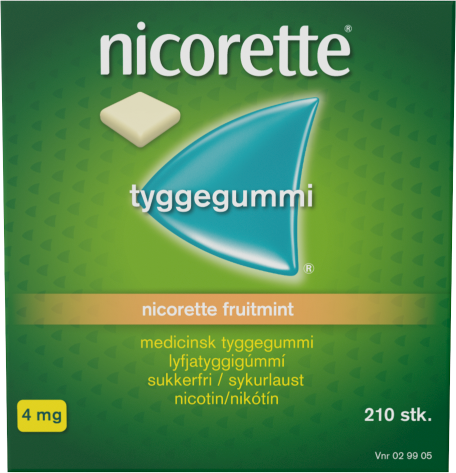 Nicorette Tyggegummi Fruitmint - 4 mg - 210 stk
