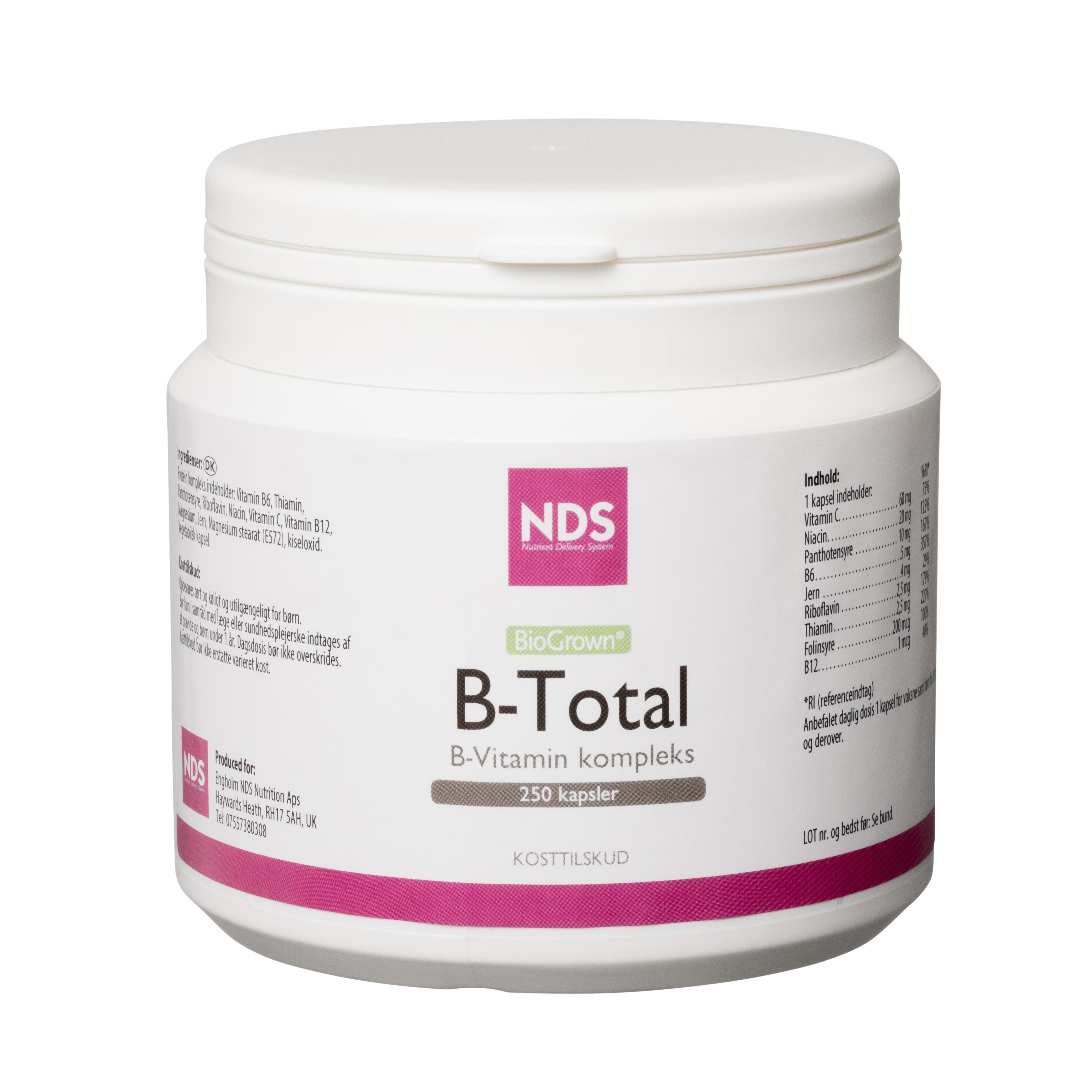 NDS B-Total Vitamin - 250 Tabl