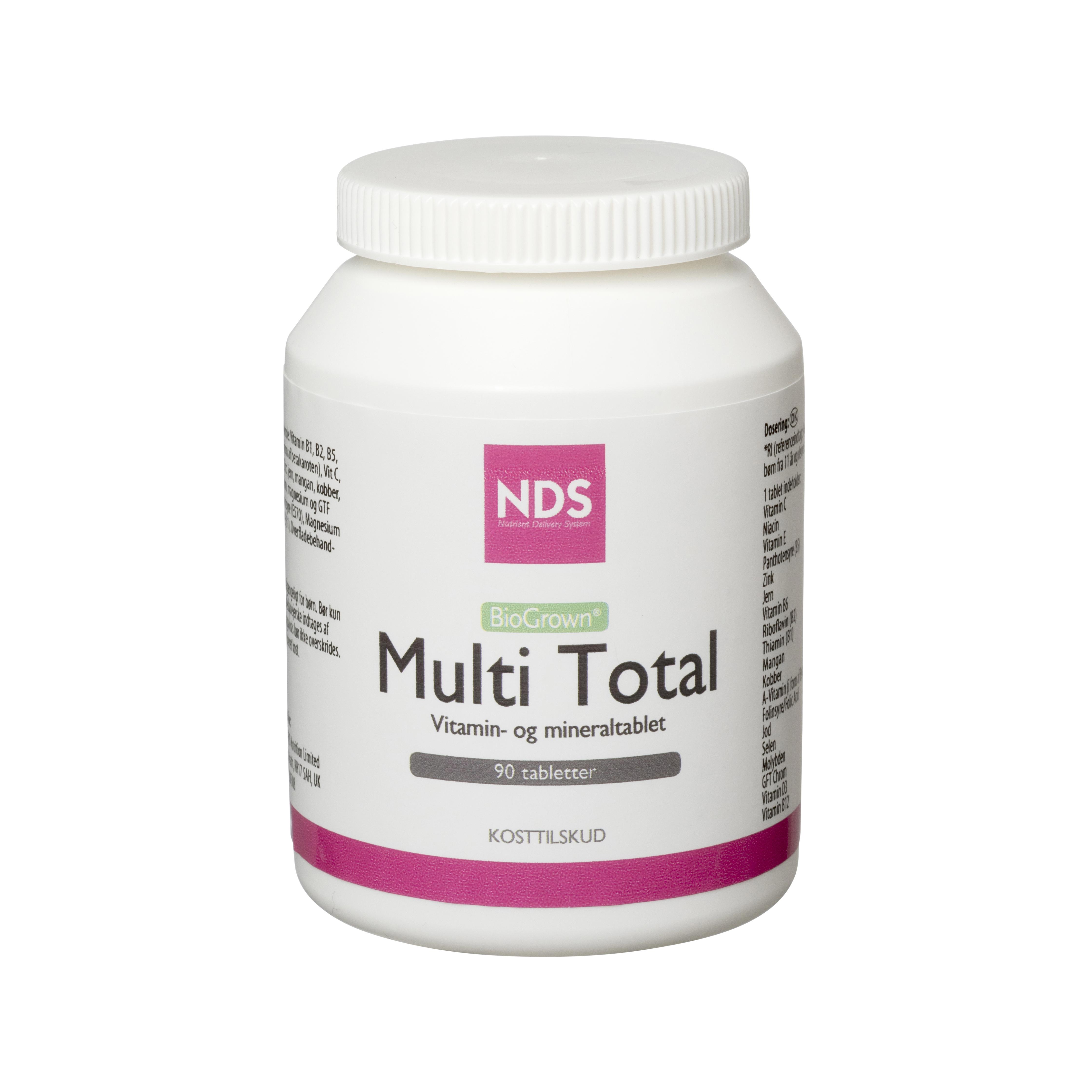 Image of   NDS Multi Total - multivitamin- og mineral - 90 Tabl