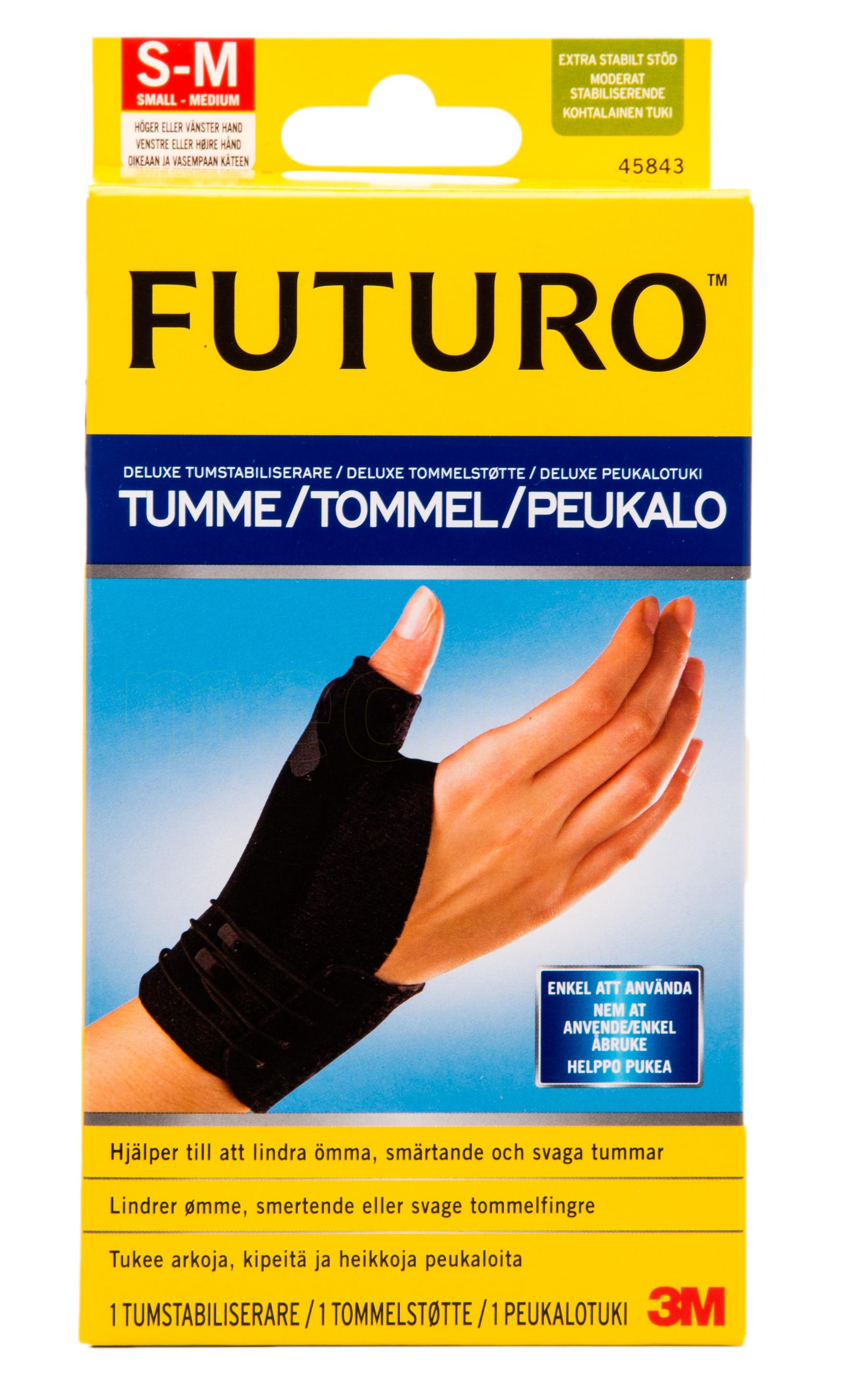 Billede af Futuro Deluxe Tommelfingerstøtte - S/M - 1 S / - 1 Stk.