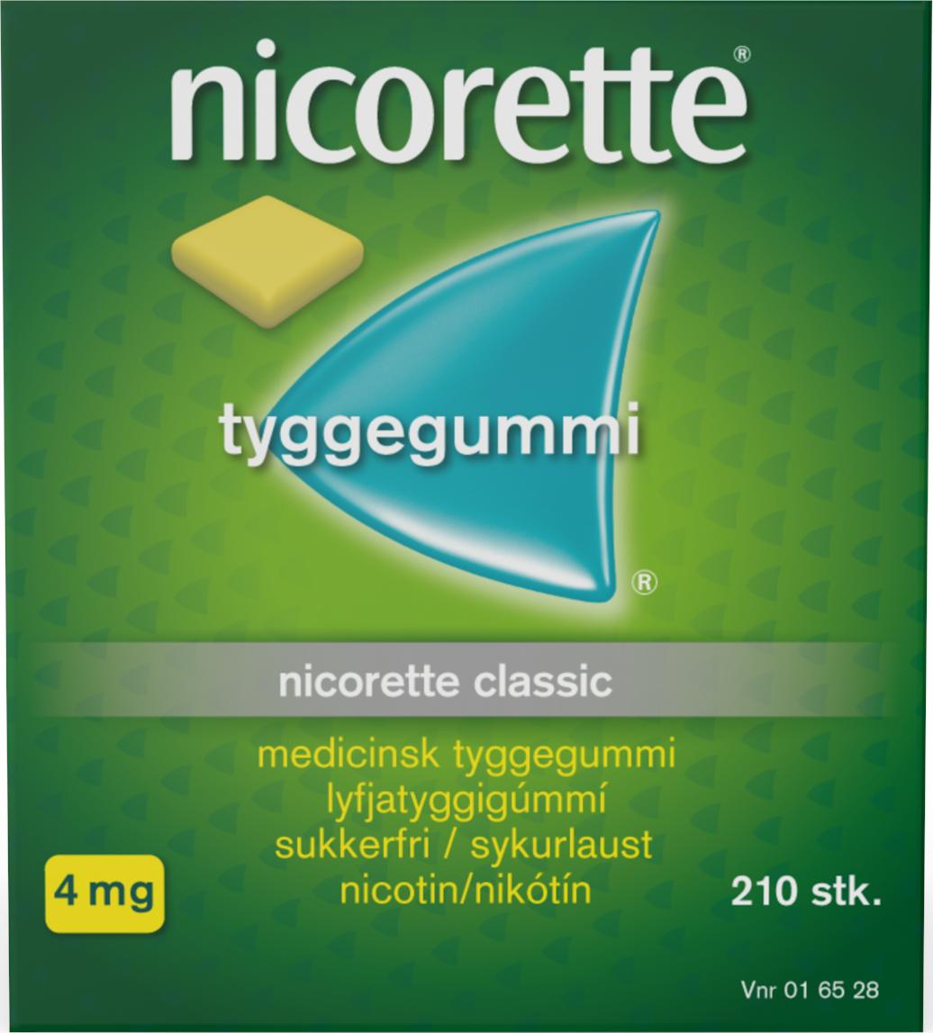 Nicorette Tyggegummi Classic - 4 mg - 210 stk