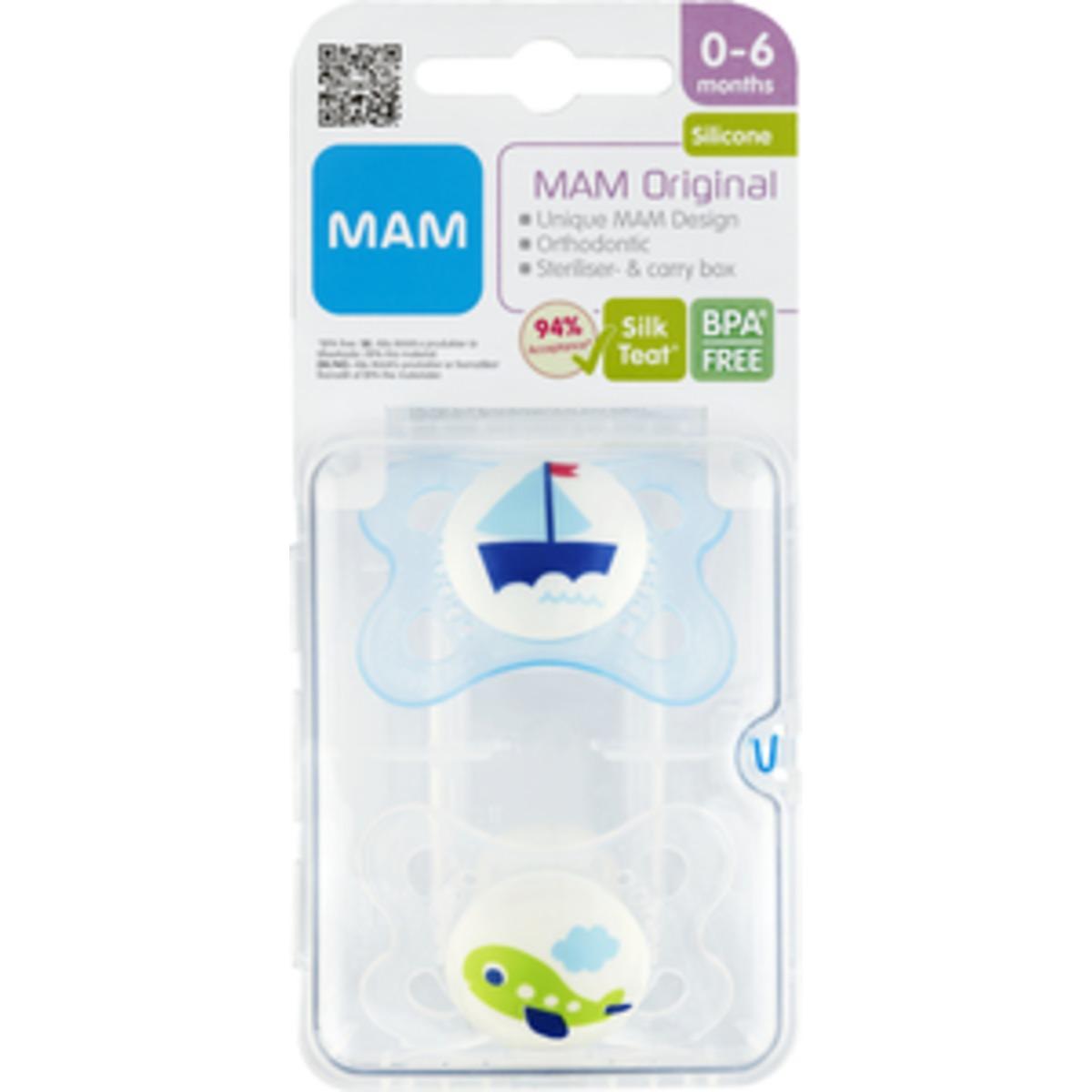 MAM Original 0-6 Mdr Silk Teat - 2 Stk.