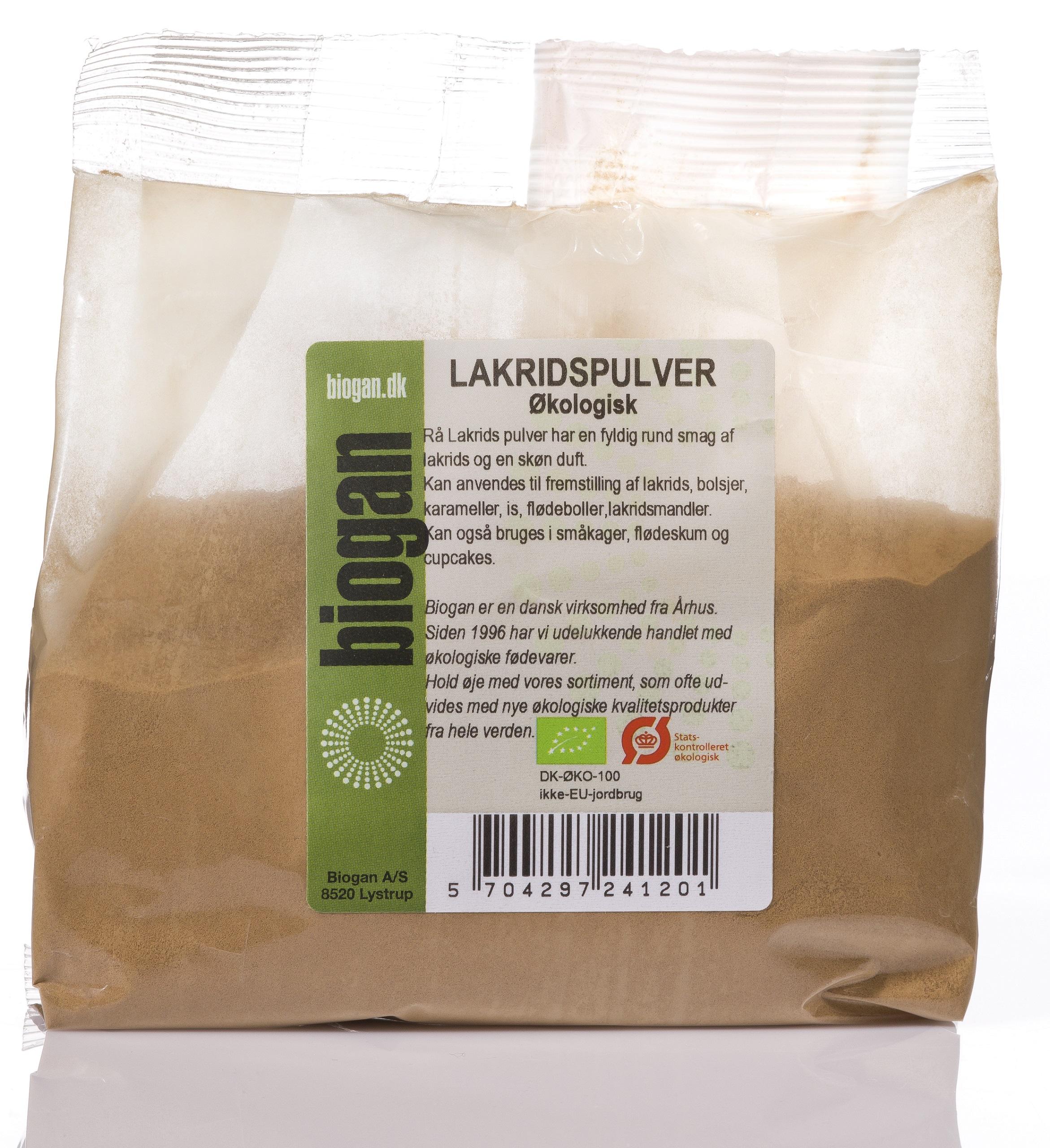 Biogan lakridspulver fra Mecindo