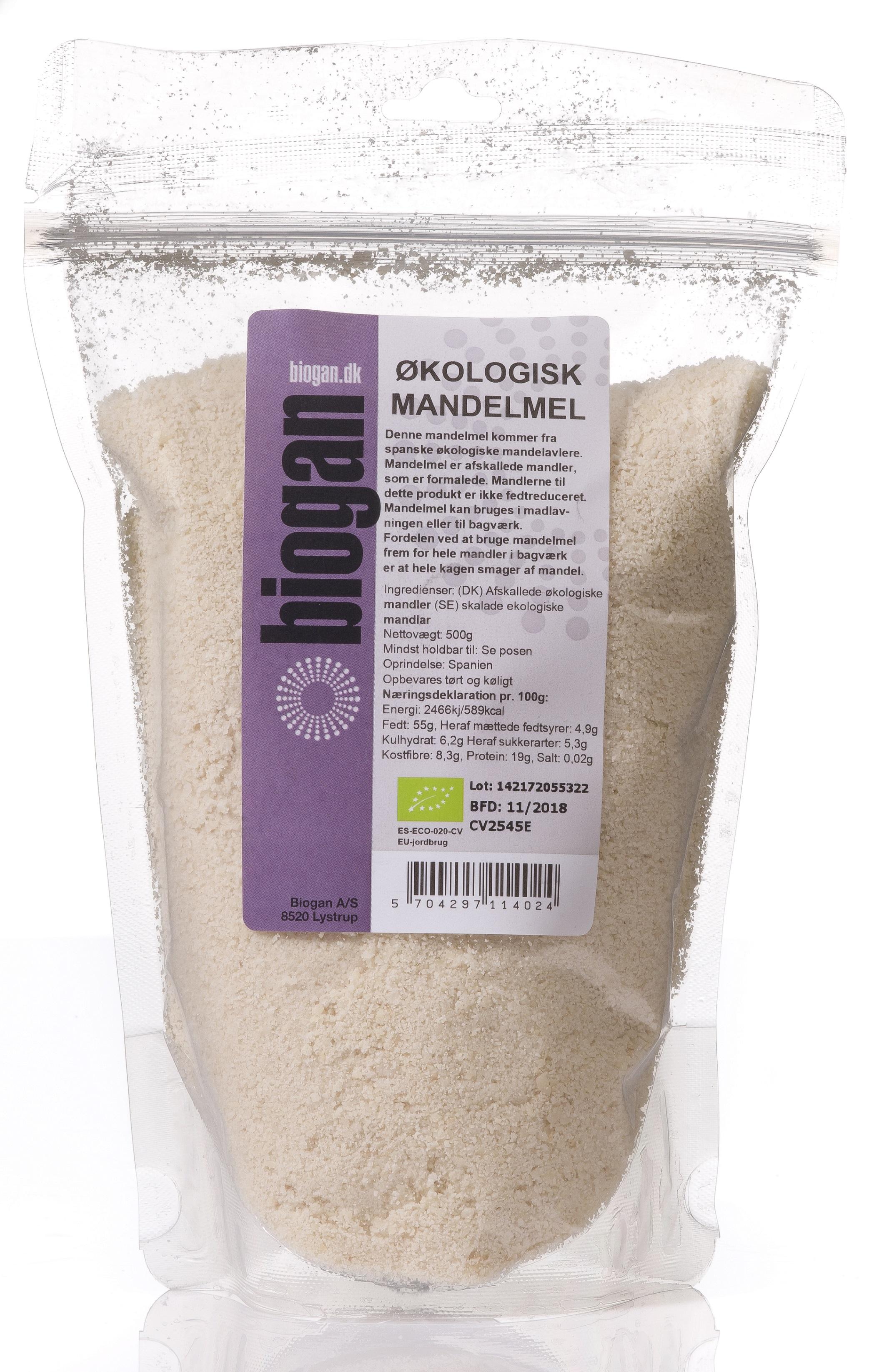 Image of   Biogan Økologisk Mandelmel - 500 G
