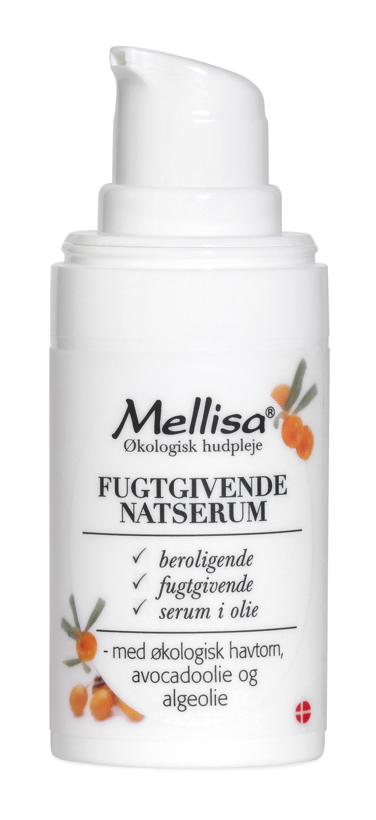 Billede af Mellisa Fugtgivende Natserum m. hybenkerne, havtorn, kæmpenatlys - 15 ml
