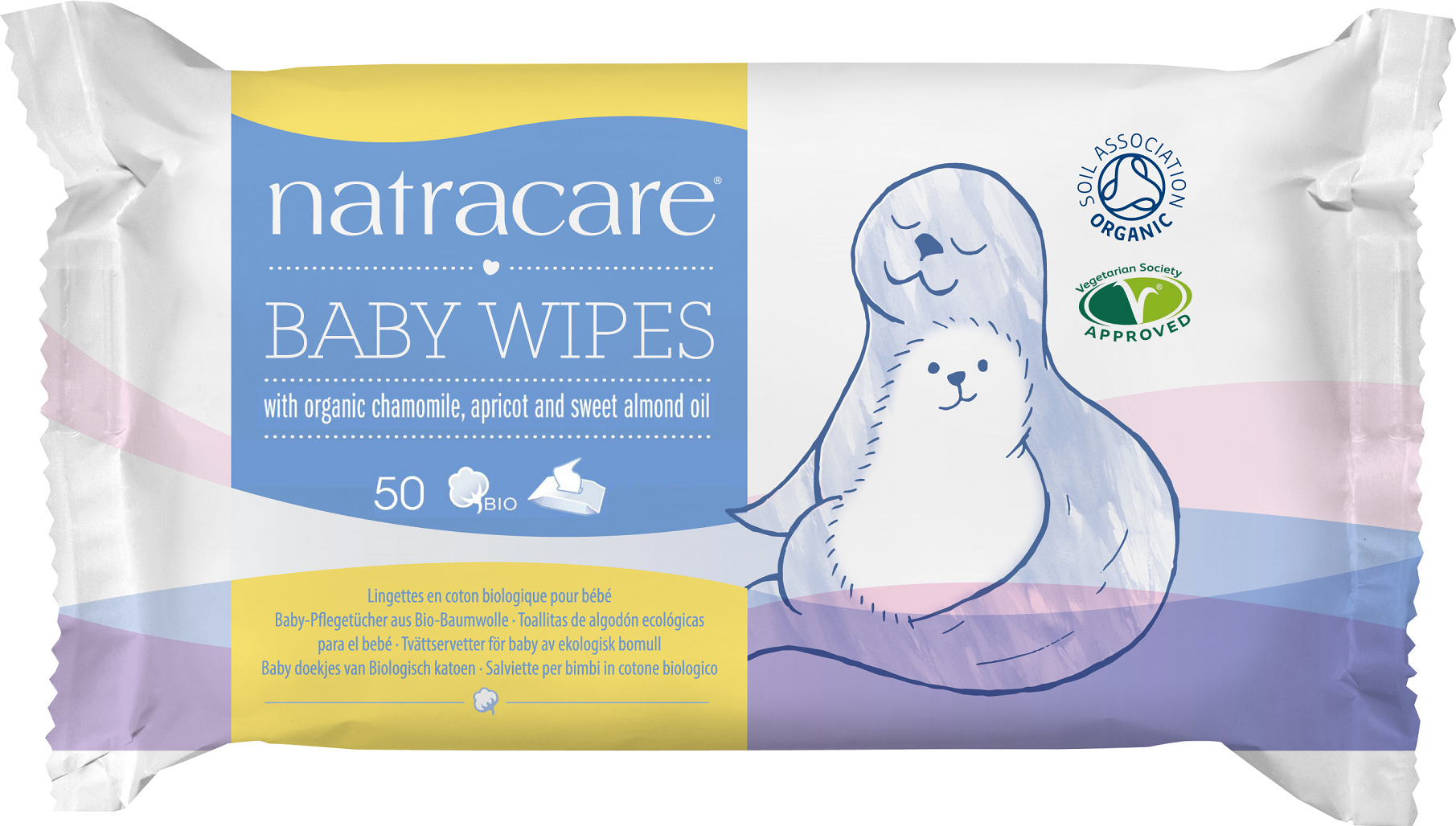 Billede af Natracare Baby Vådservietter 100% Bomuld - 50 Rens