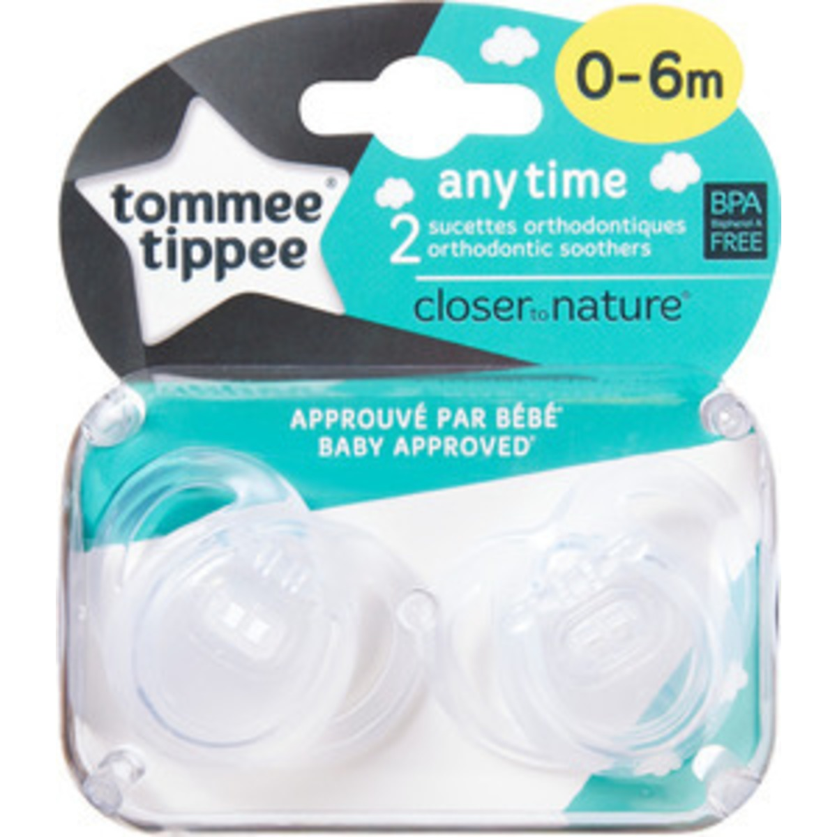 Image of   Tommee Tippee Sut Any Time 0-6 Mdr. - 1 Stk.