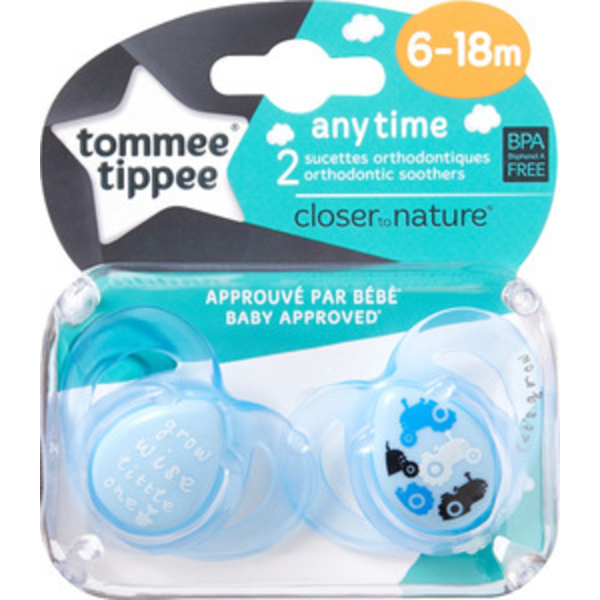 Image of   Tommee Tippee Sut Any Time 6-18 Mdr - 2 Stk.